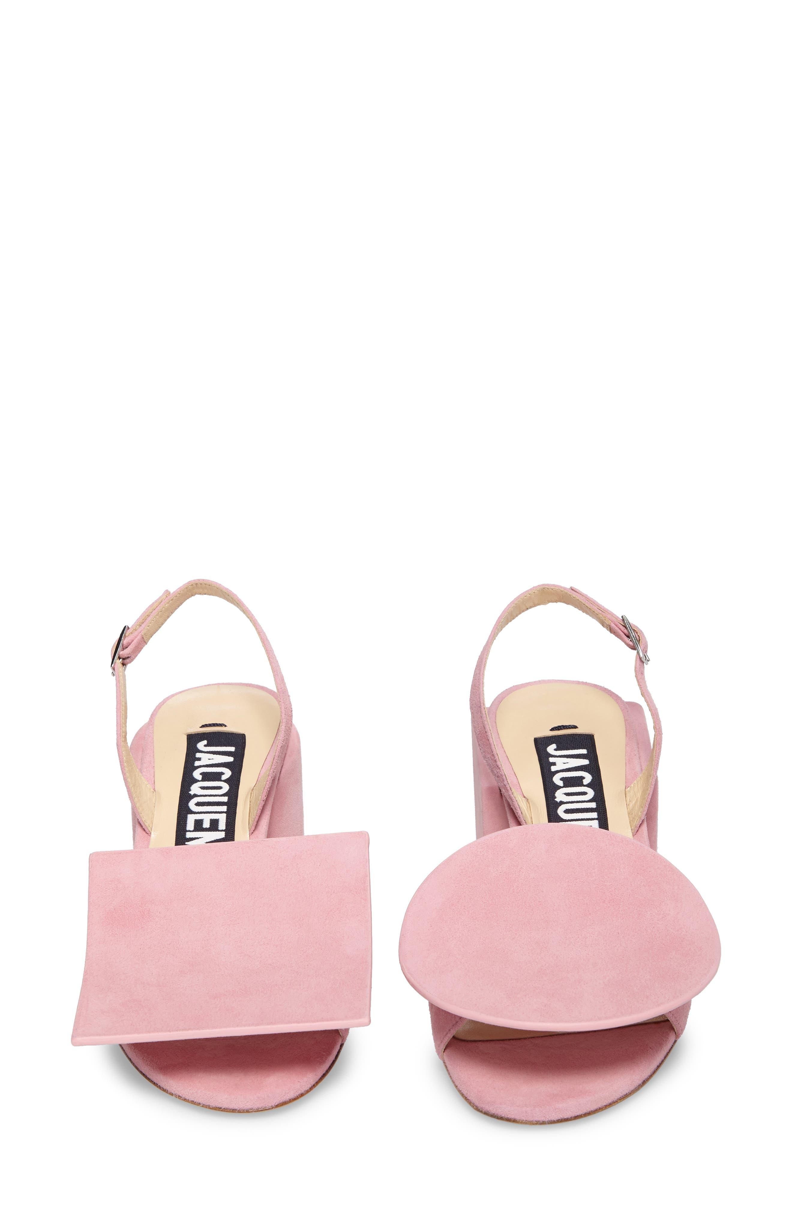 Les Rond Carré Suede Sandal,                             Alternate thumbnail 5, color,                             Pink