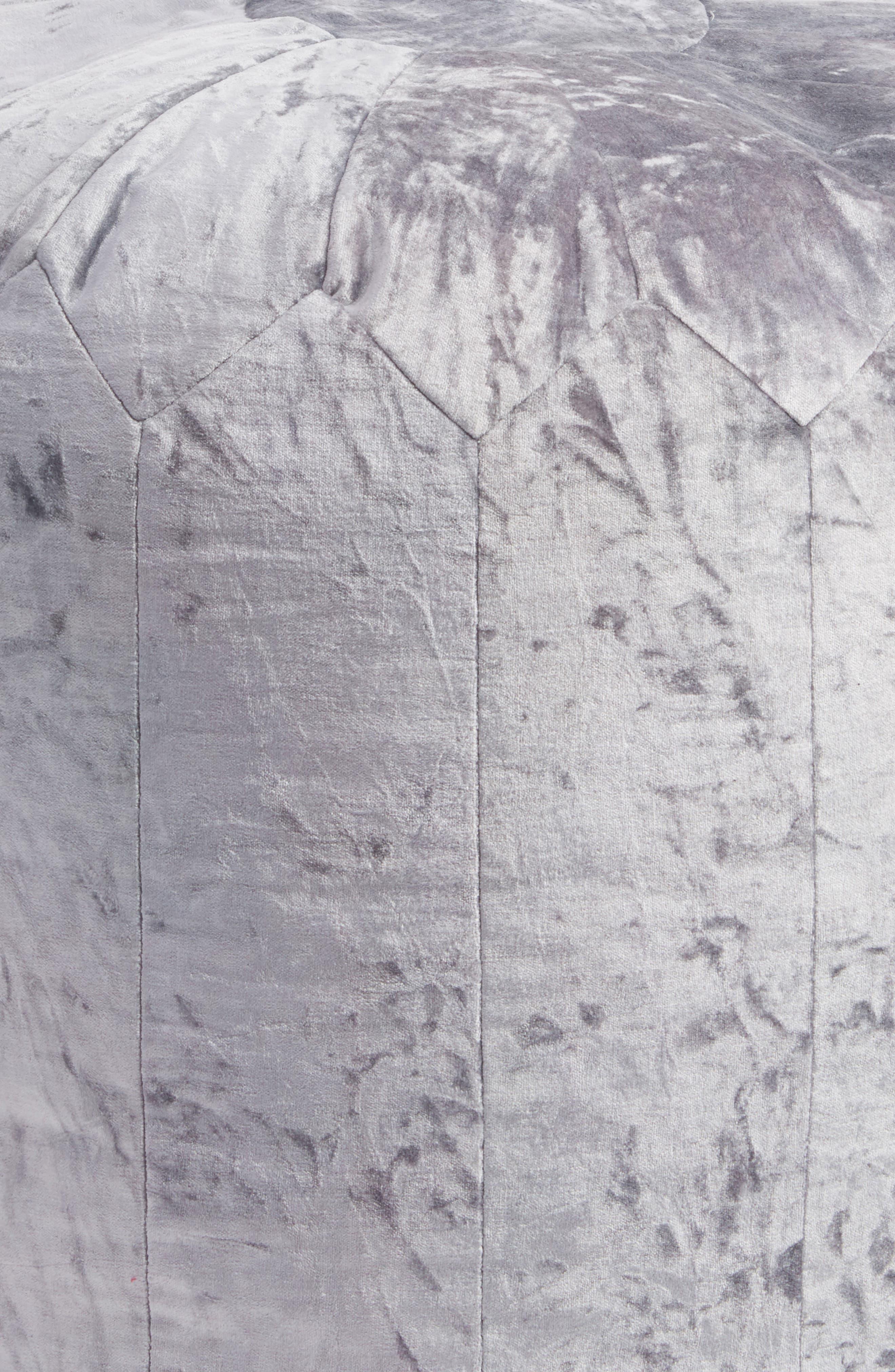 Shimmer Velvet Pouf,                             Alternate thumbnail 2, color,                             Blue Tradewinds