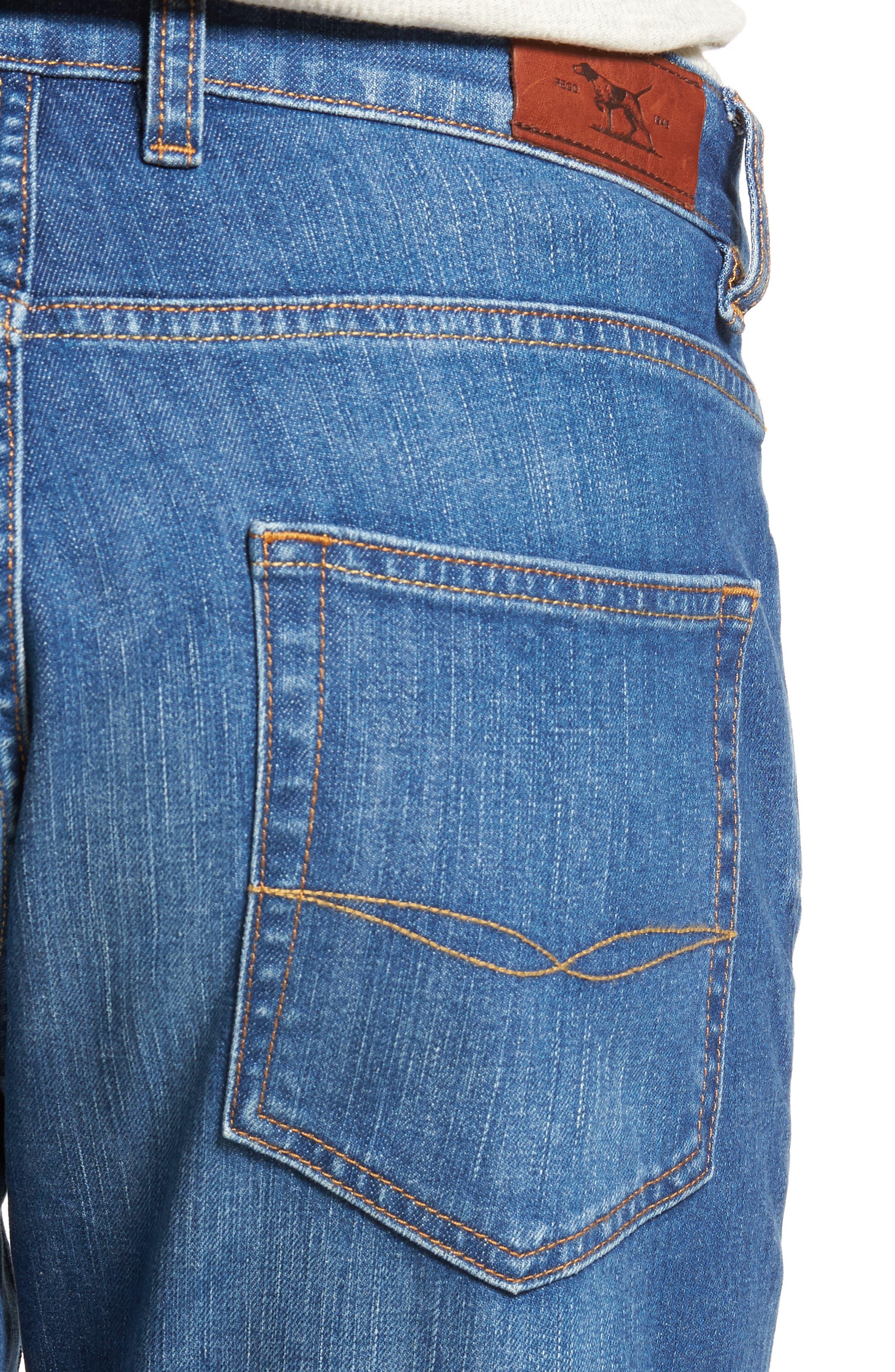 Cranfield Straight Leg Jeans,                             Alternate thumbnail 4, color,                             Denim