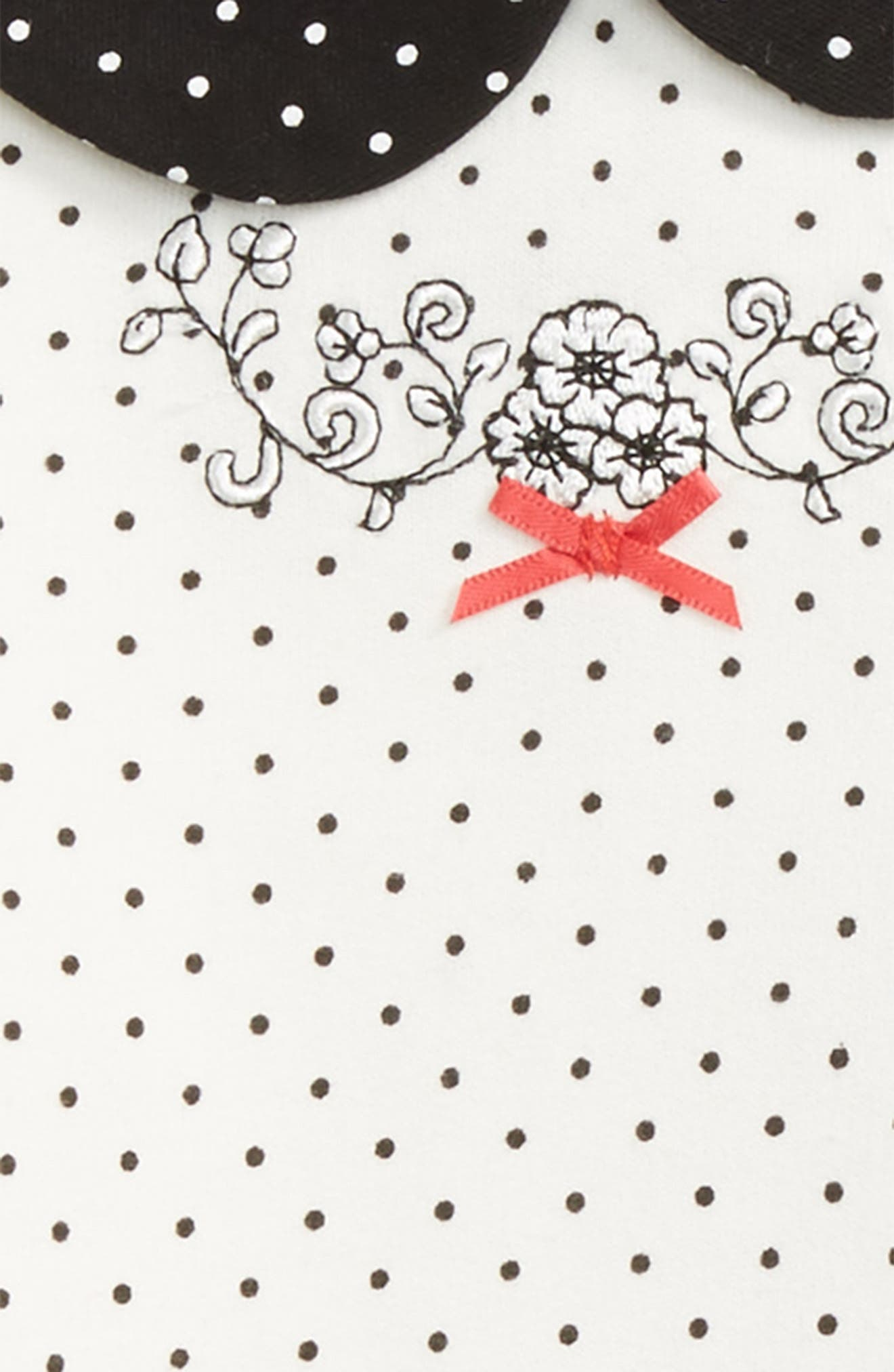 Dot Tunic, Leggings and Headband Set,                             Alternate thumbnail 2, color,                             Black