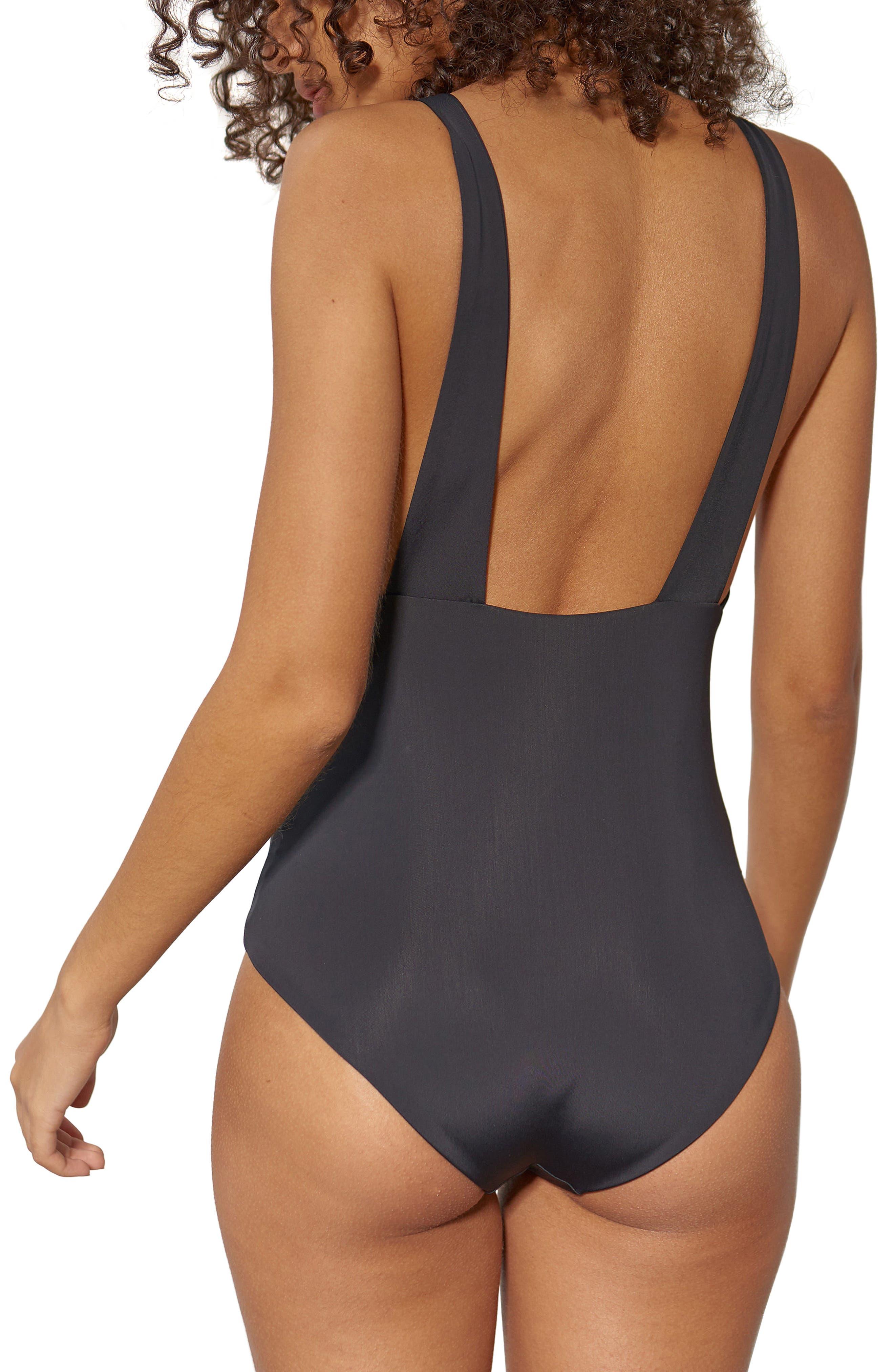 Audrey One-Piece Swimsuit,                             Alternate thumbnail 2, color,                             Black