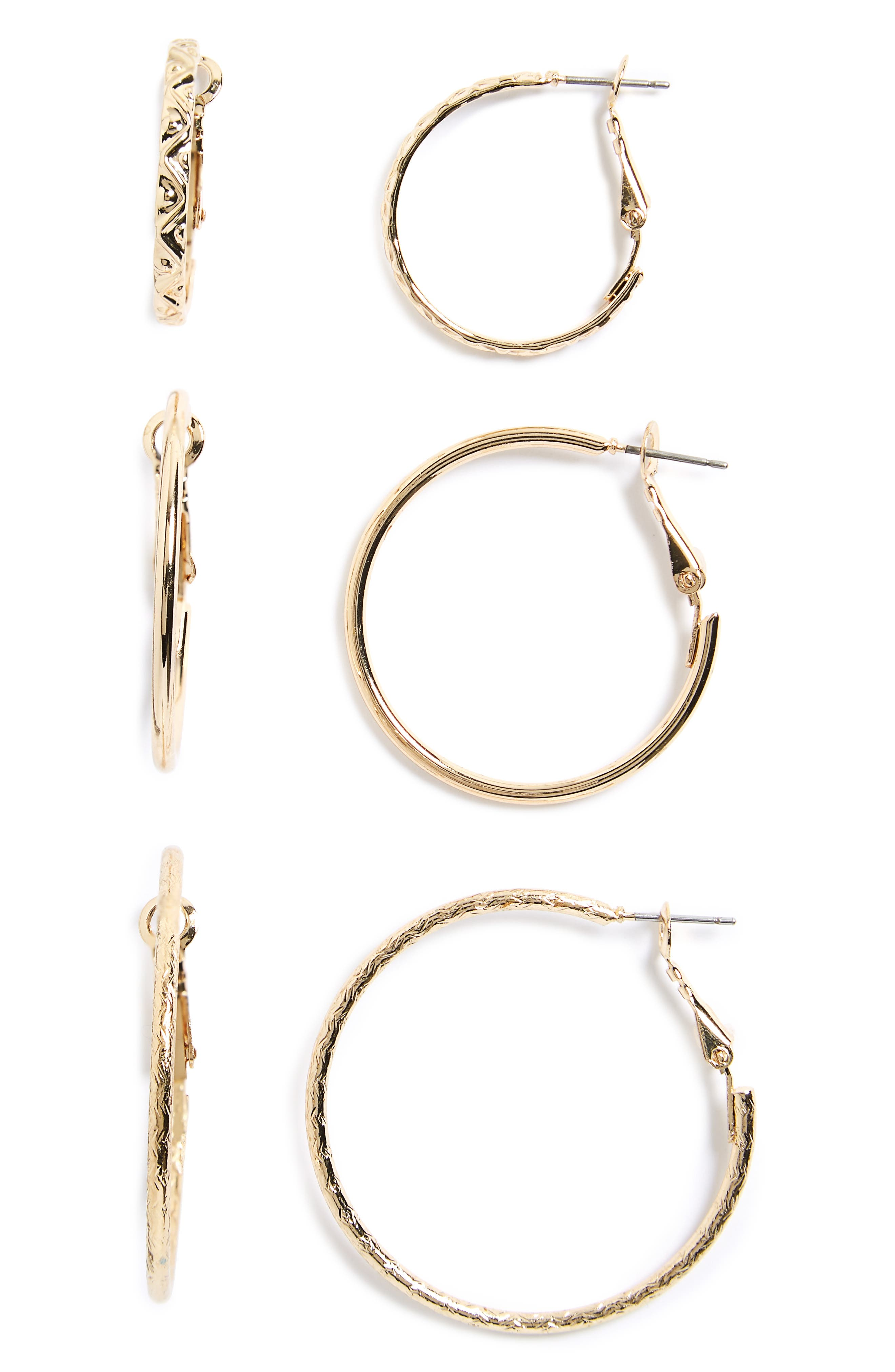 BP. 3-Pack Small Hoop Earrings