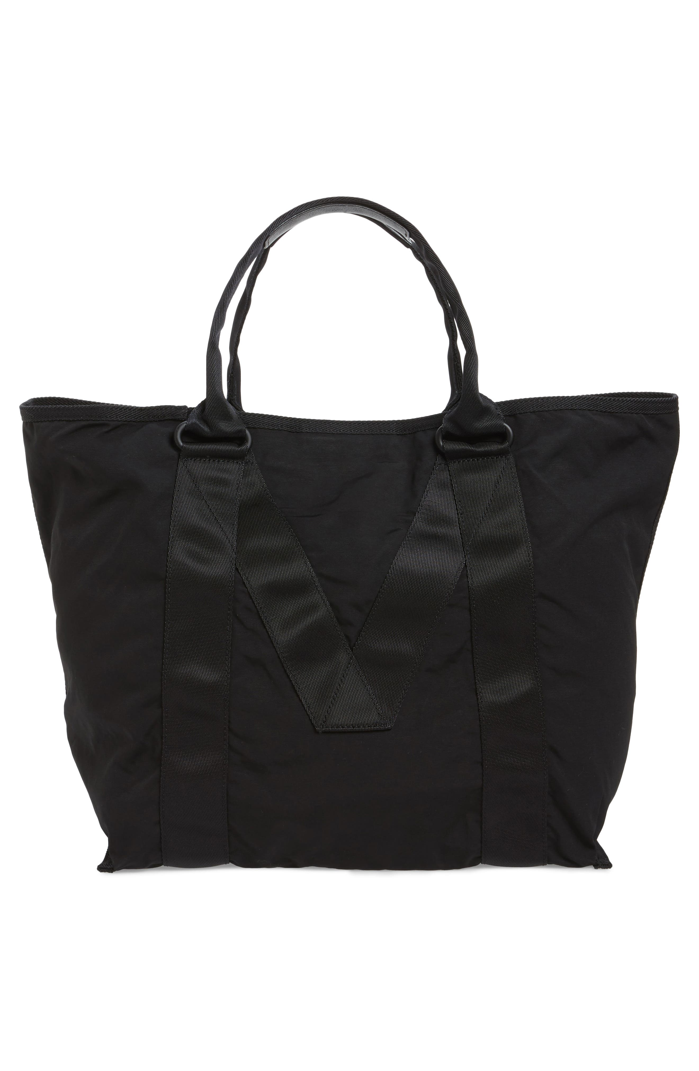 New Logo Tote,                             Alternate thumbnail 2, color,                             Black
