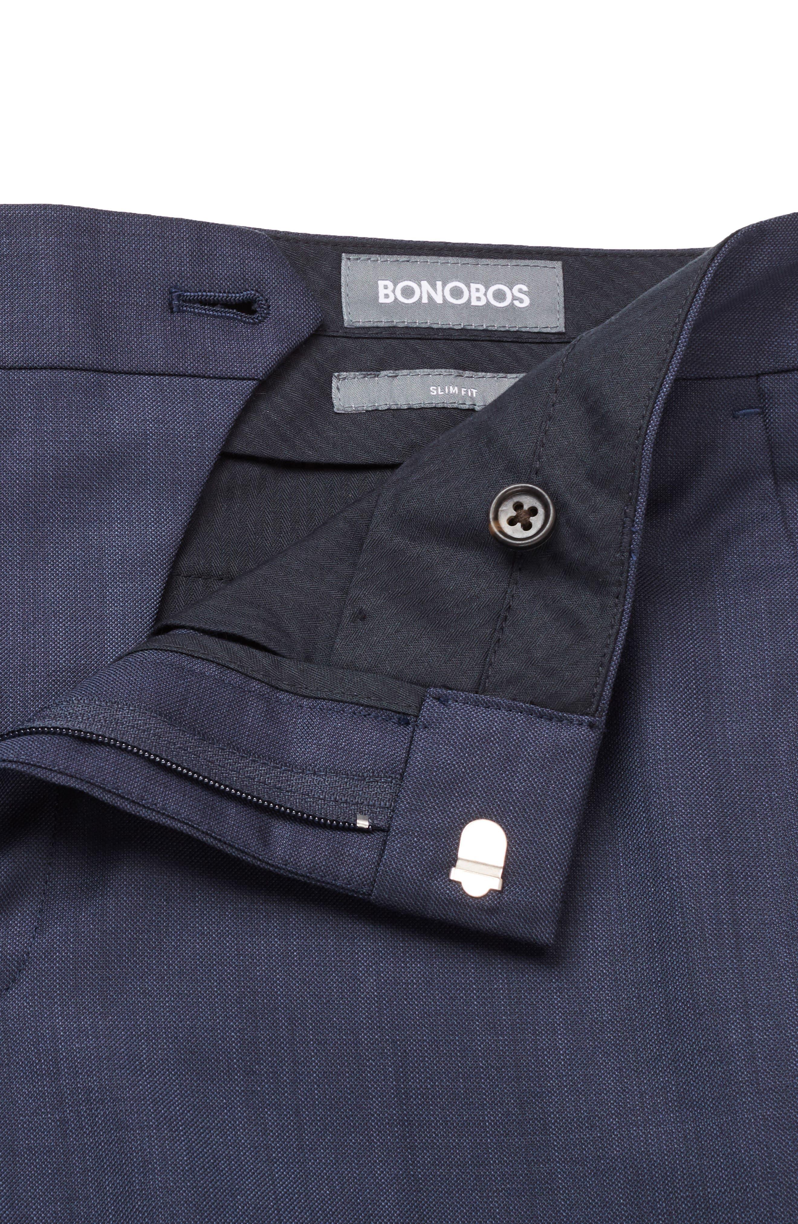 Alternate Image 3  - Bonobos Jetsetter Flat Front Plaid Stretch Wool Trousers