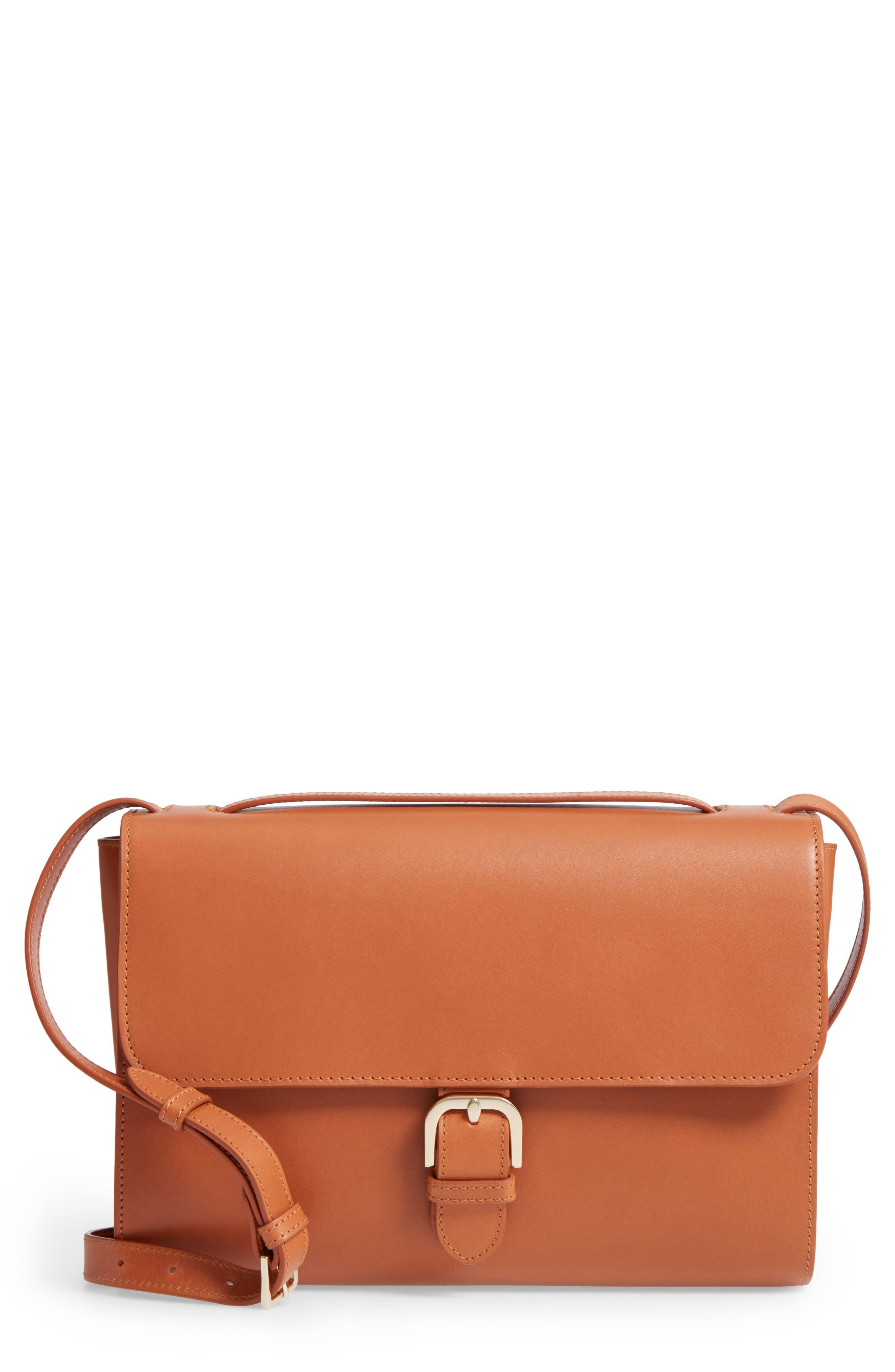 A.P.C. Katy Calfskin Leather Messenger Bag