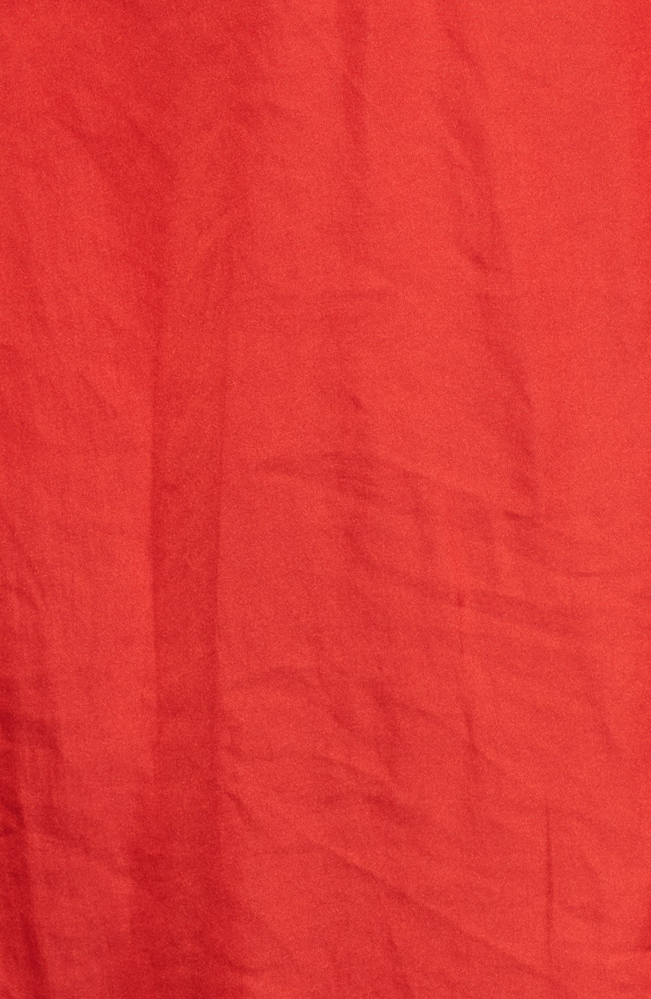 Satin Henley,                             Alternate thumbnail 5, color,                             Firey Red