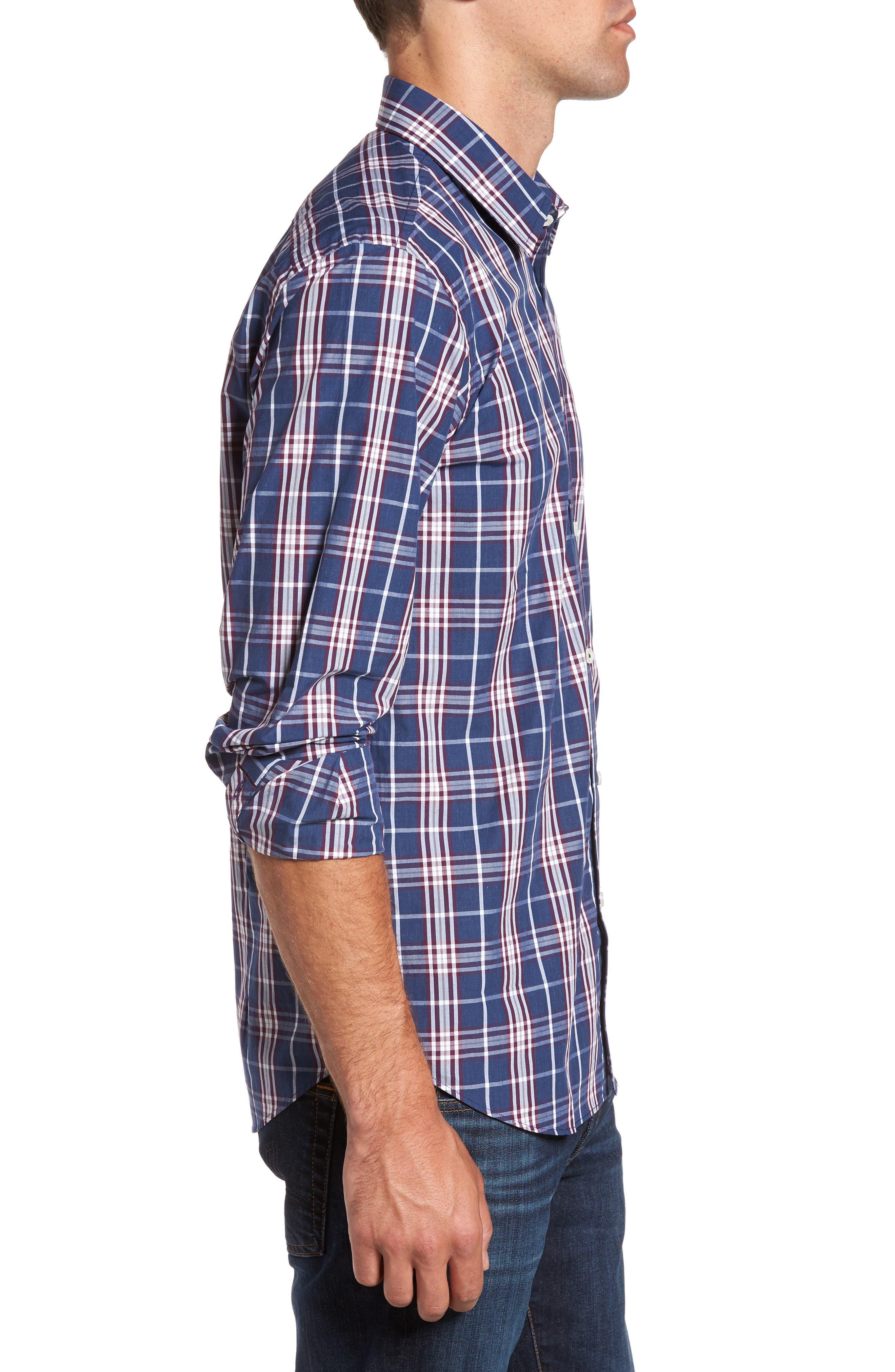 Alternate Image 3  - Jeremy Argyle Comfort Fit Plaid Sport Shirt
