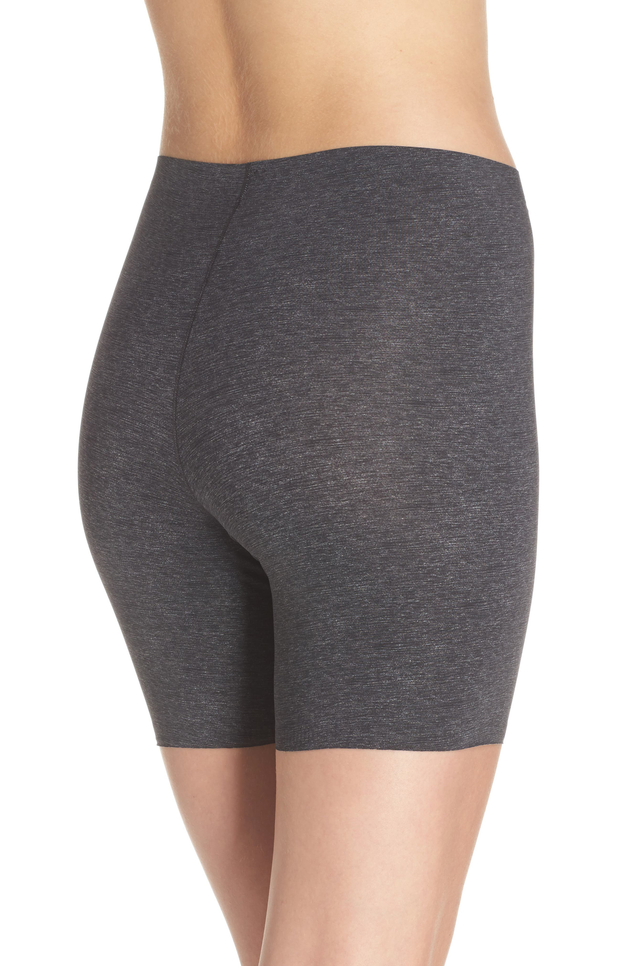 Thinstincts Girl Shorts,                             Alternate thumbnail 2, color,                             Heather Charcoal