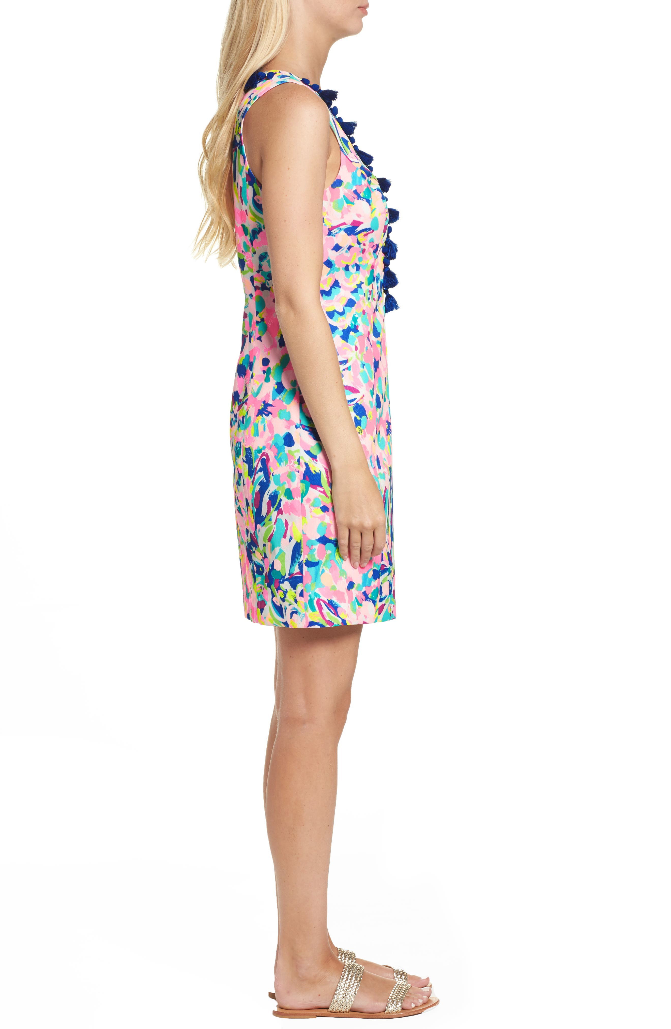 Cabrey Sheath Dress,                             Alternate thumbnail 3, color,                             Multi Pina Colada Club
