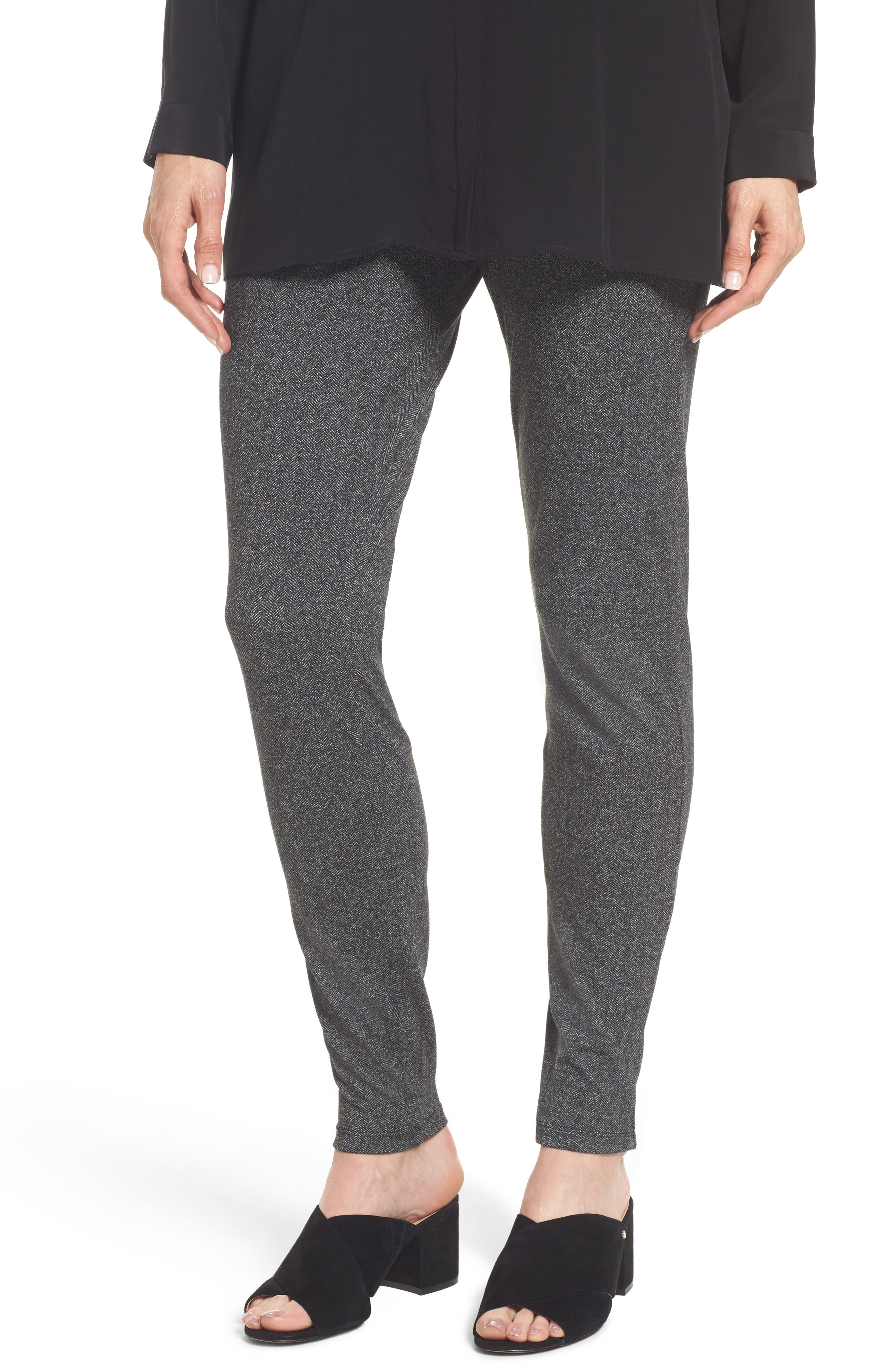 Herringbone Leggings,                         Main,                         color, Charcoal