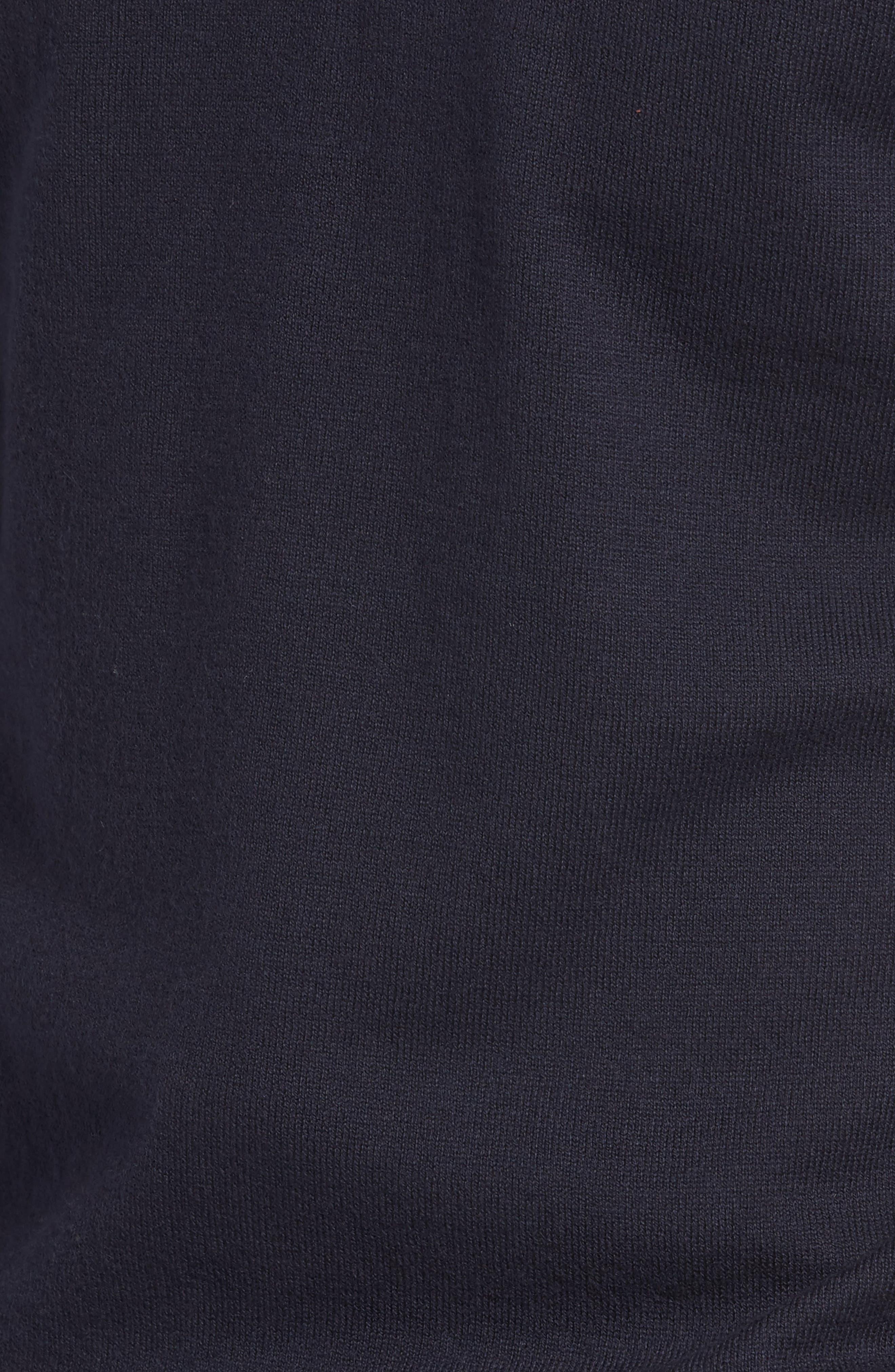 Alternate Image 5  - Nordstrom Men's Shop Saddle Shoulder Quarter Zip Cotton & Cashmere Pullover