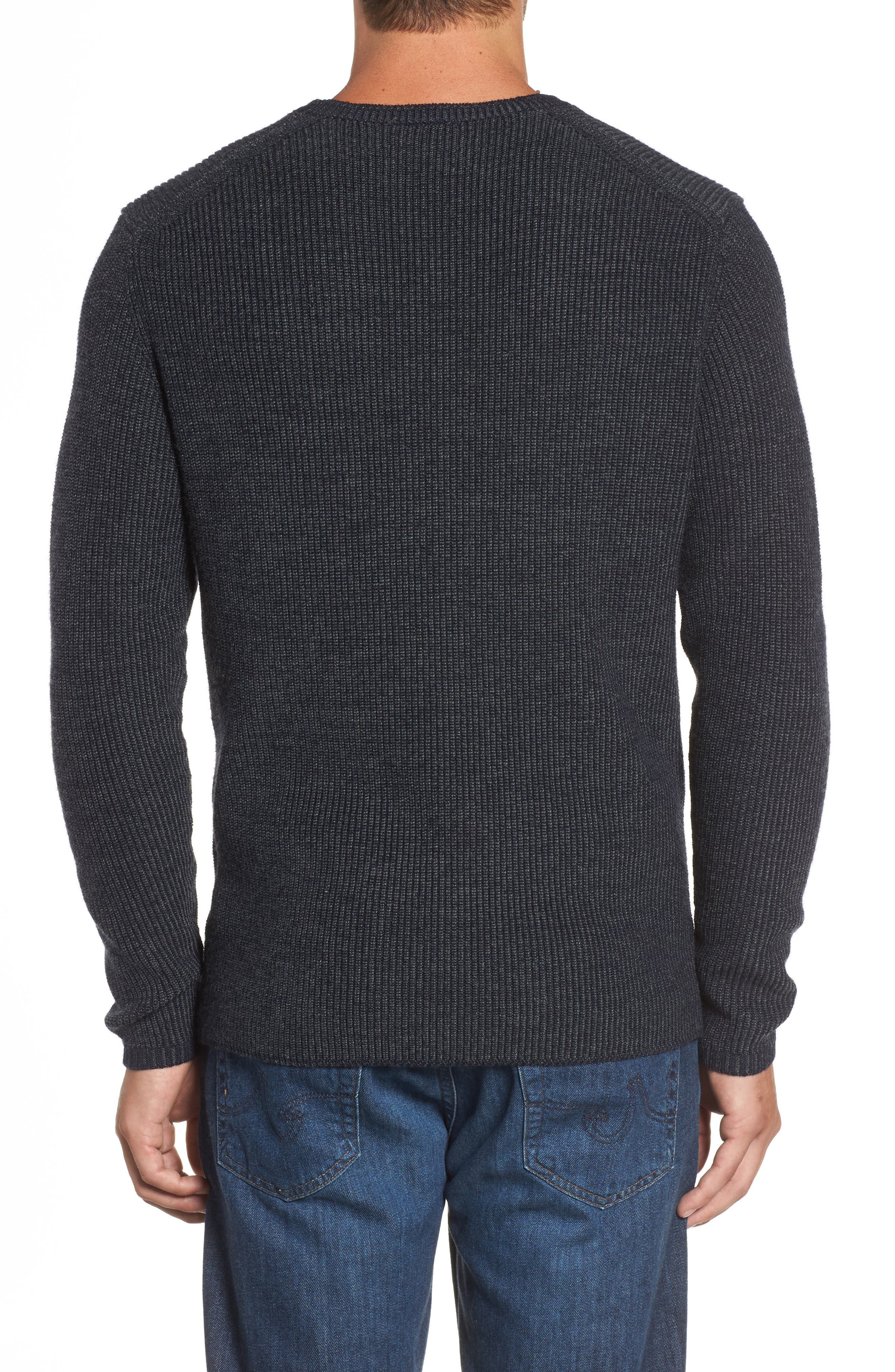 Whalers Bay Ribbed Merino Wool Sweater,                             Alternate thumbnail 2, color,                             Night