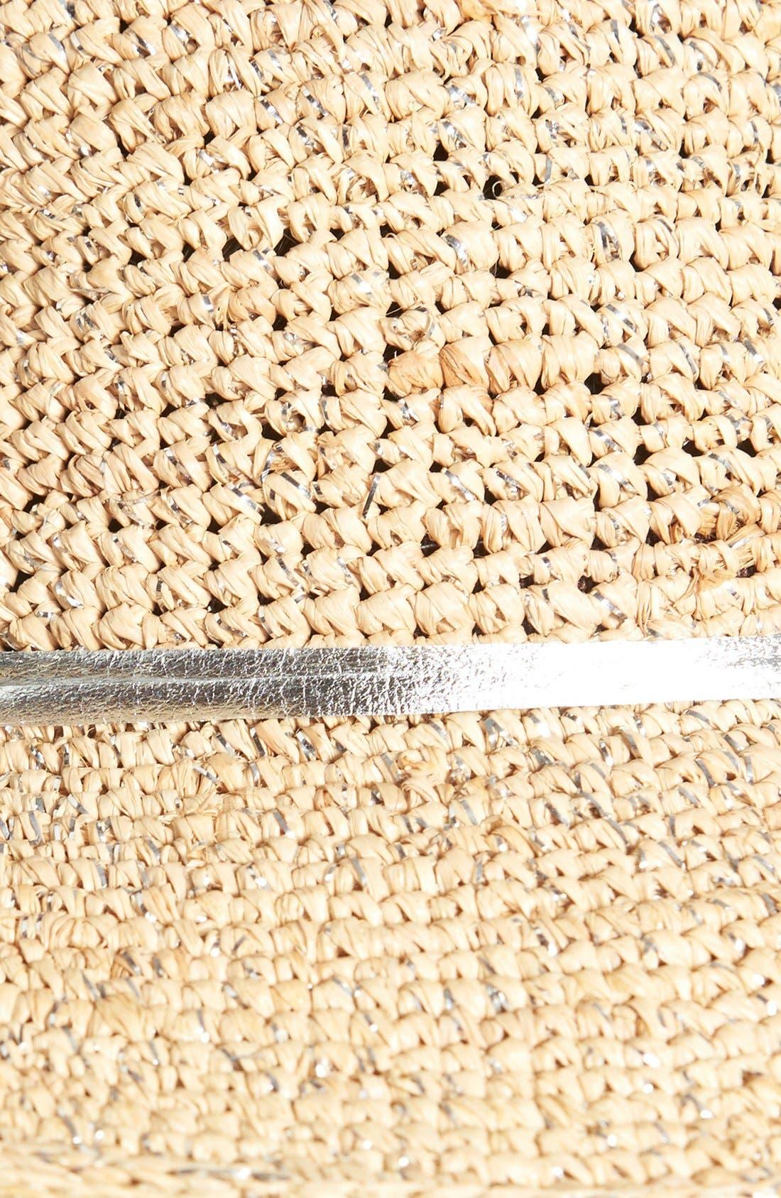 Alternate Image 2  - Flora Bella Crochet Raffia Sun Hat