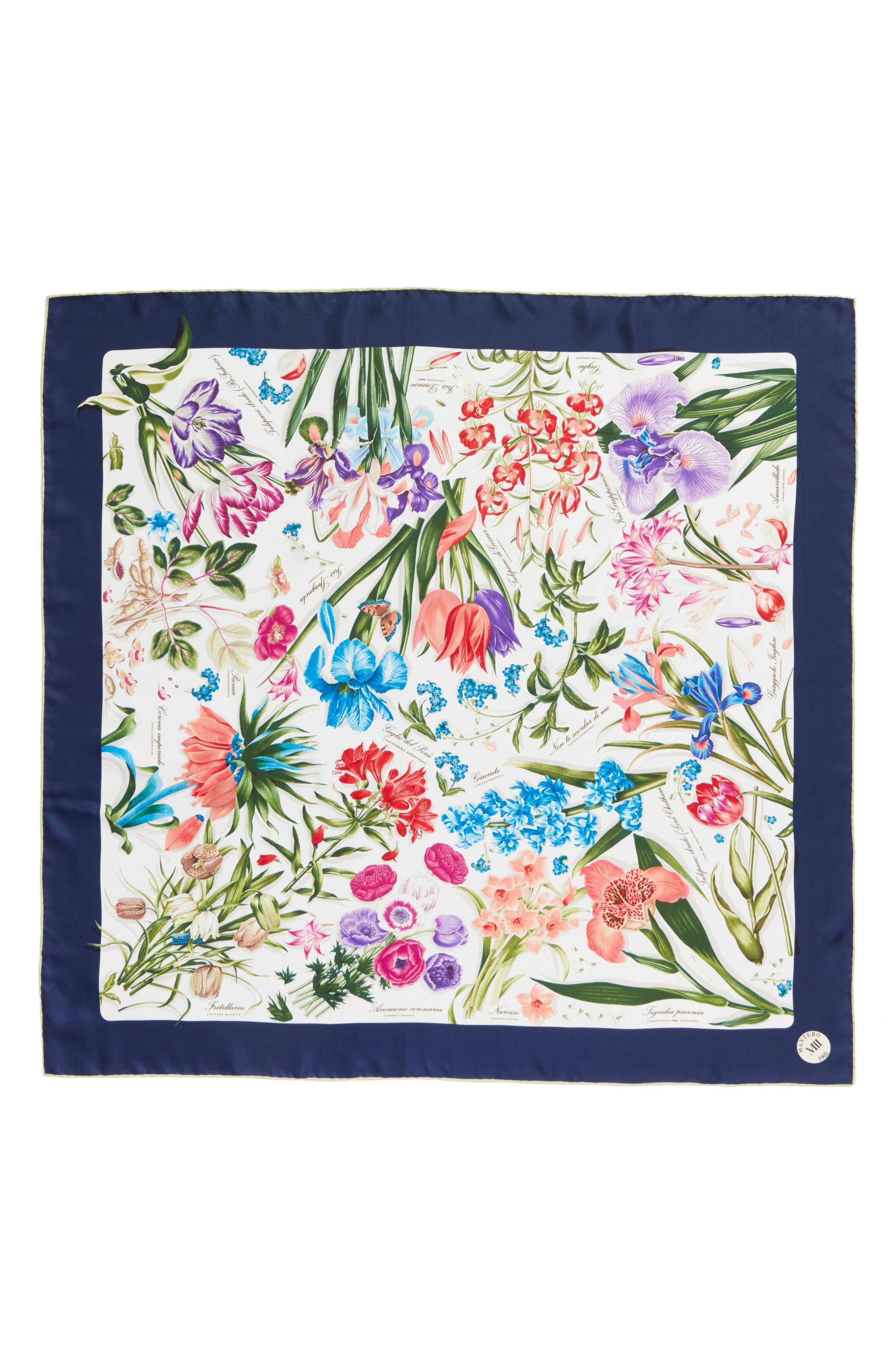 MANTERO Archivio N.15 Square Silk Scarf