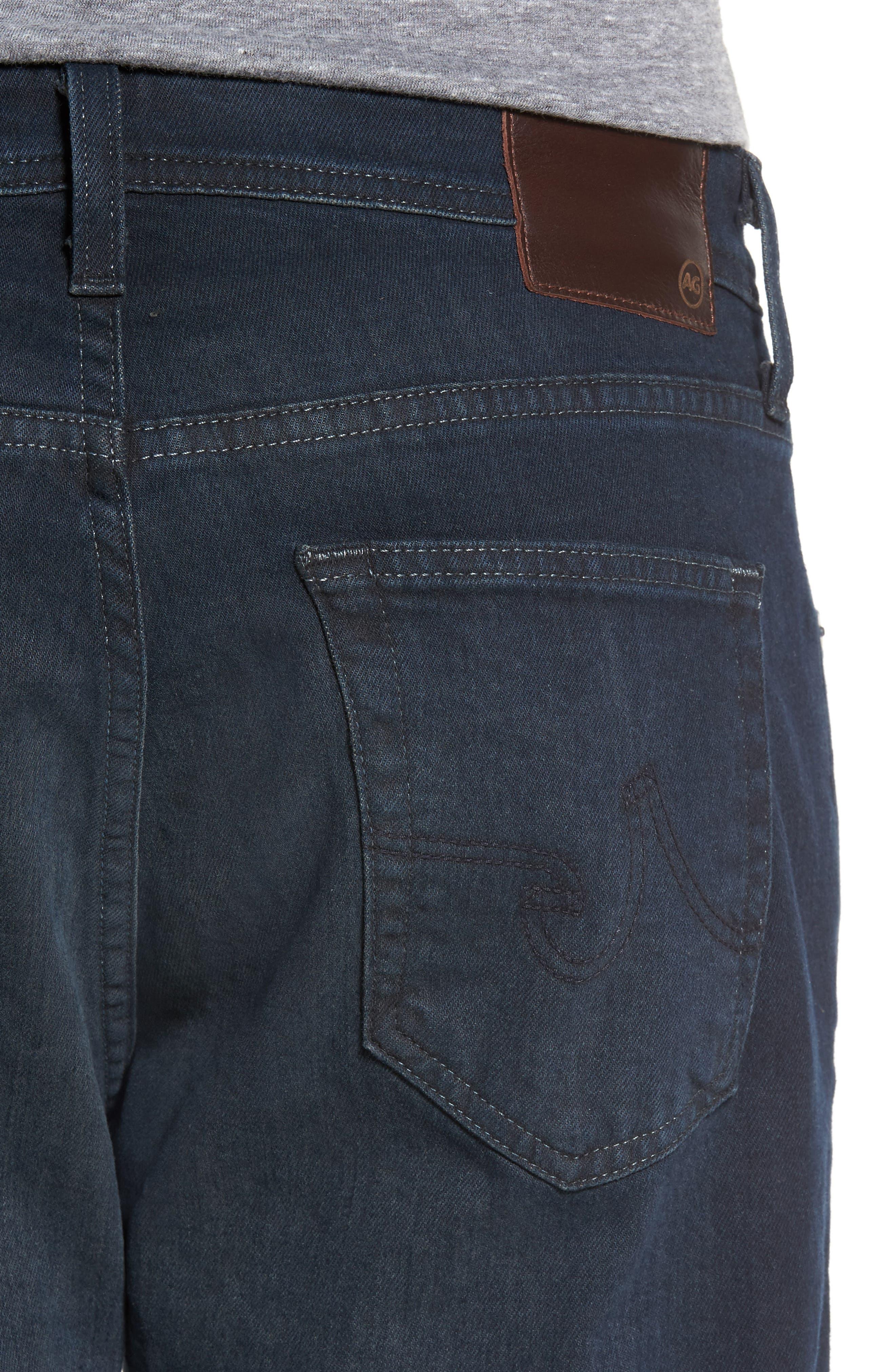 Alternate Image 4  - AG Ives Straight Fit Jeans (Blue Smolder)