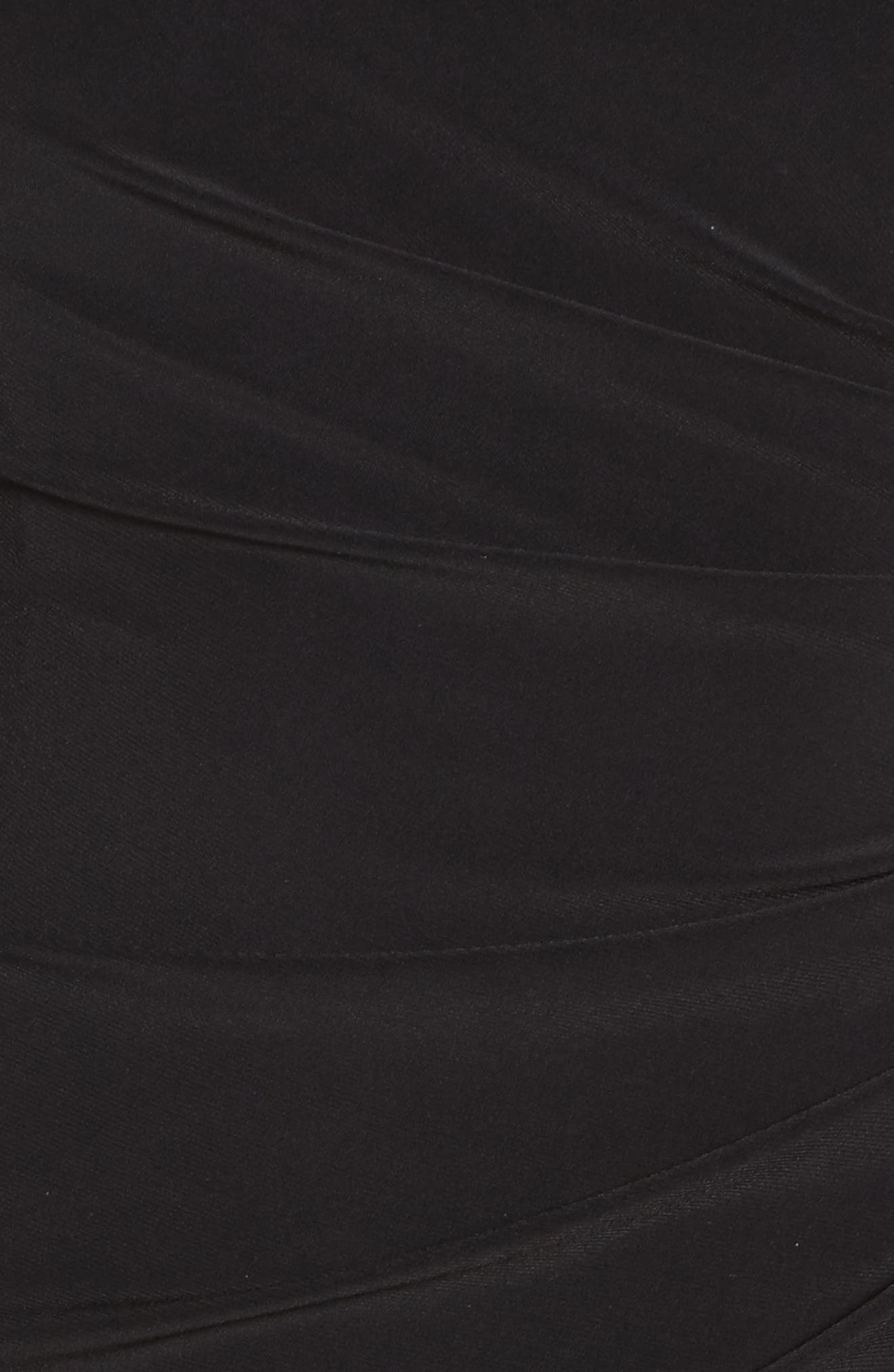 Illusion Jersey Gown,                             Alternate thumbnail 5, color,                             Black
