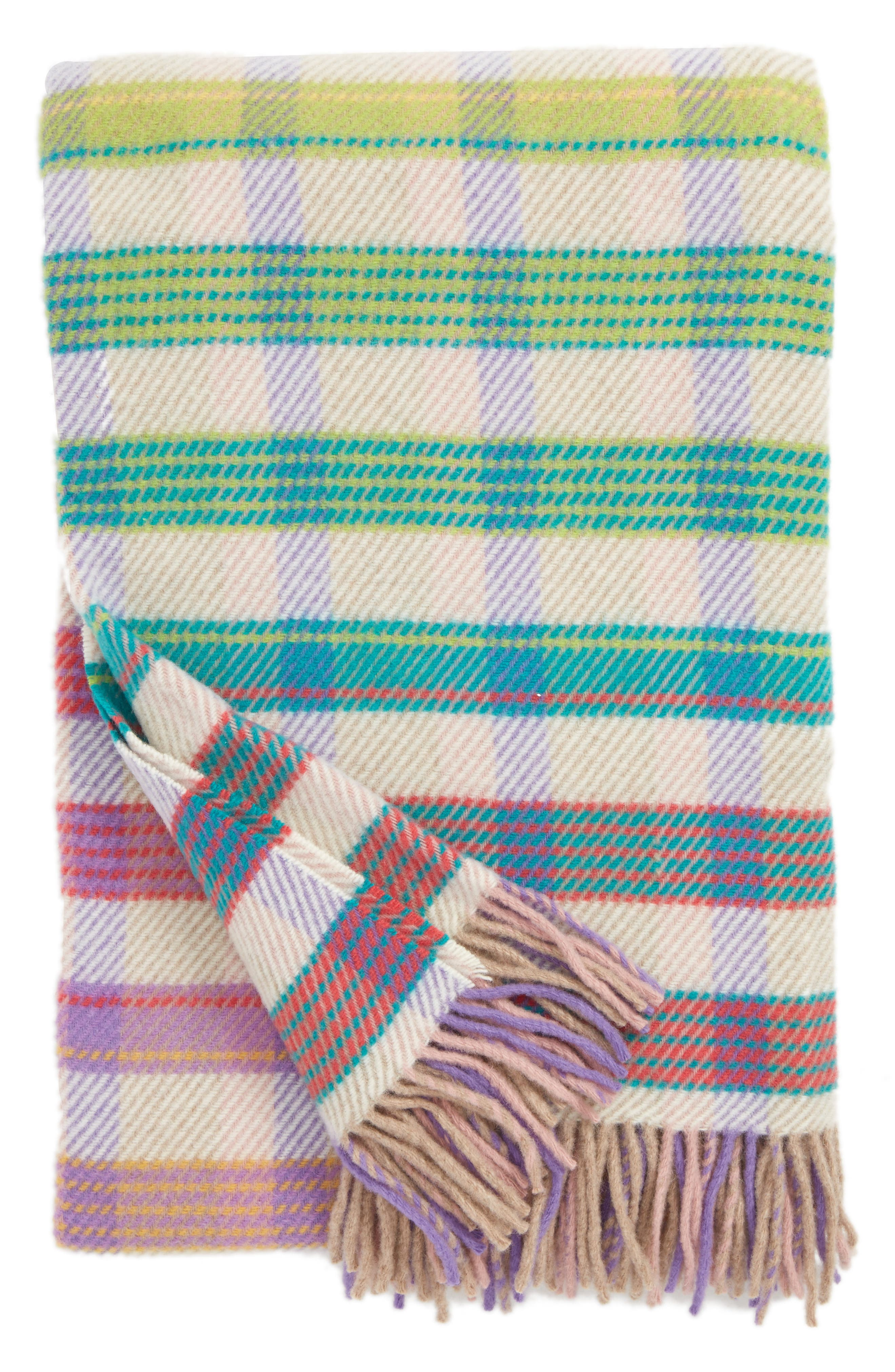 Tiziano Wool Throw Blanket,                             Main thumbnail 1, color,                             Multi Color
