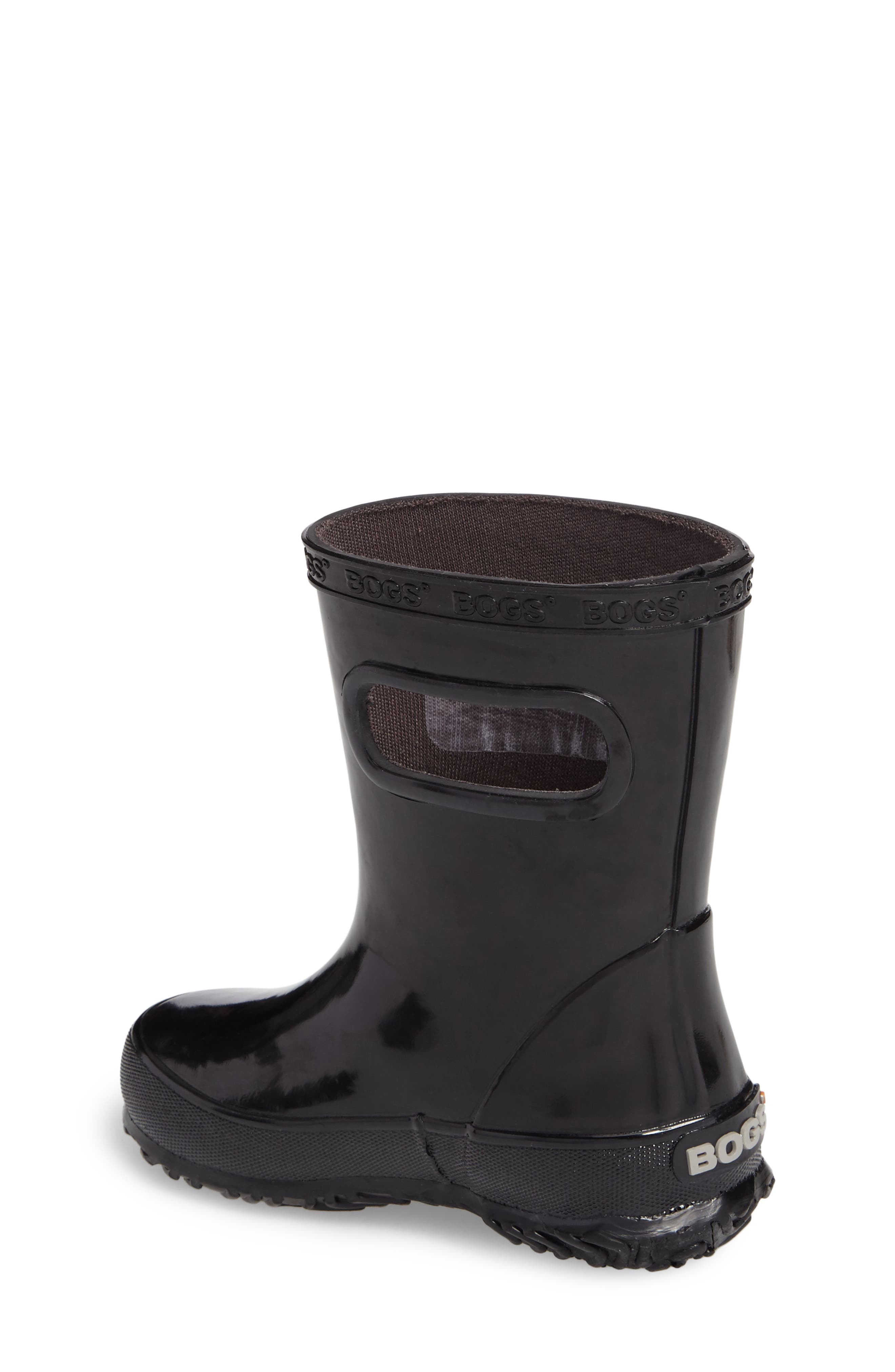 Skipper Rubber Rain Boot,                             Alternate thumbnail 2, color,                             Black
