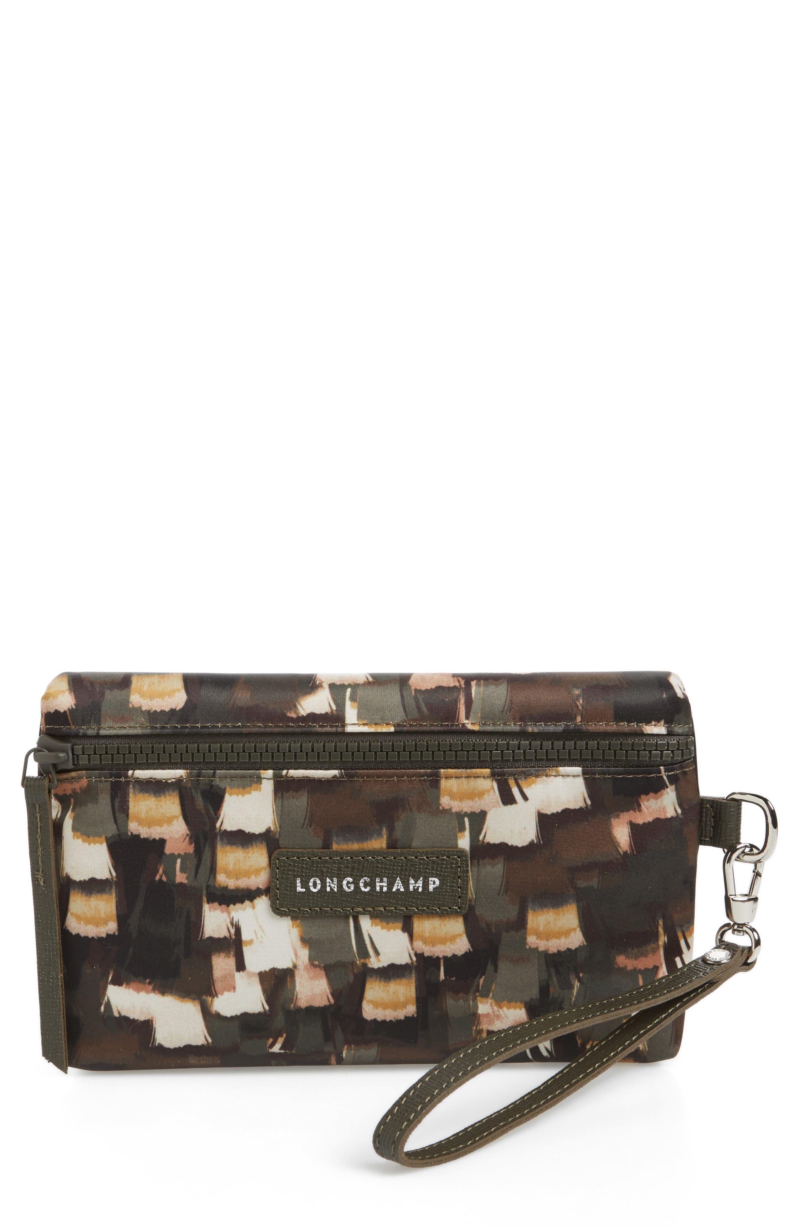 Le Pliage Neo - Vibrations Nylon Cosmetics Case,                         Main,                         color, Khaki