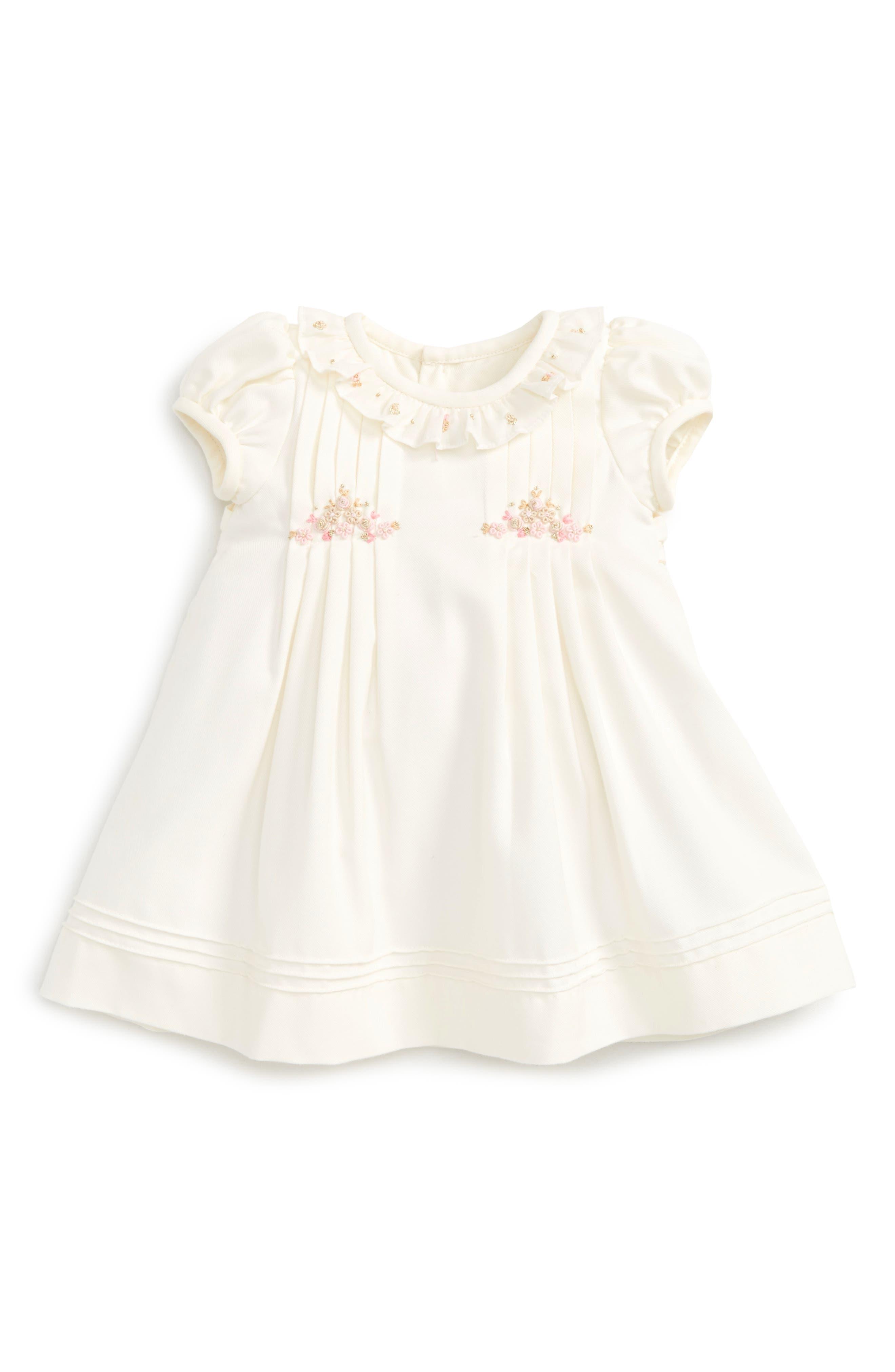 Luli & Me Viyella Pleated Dress (Baby Girls)