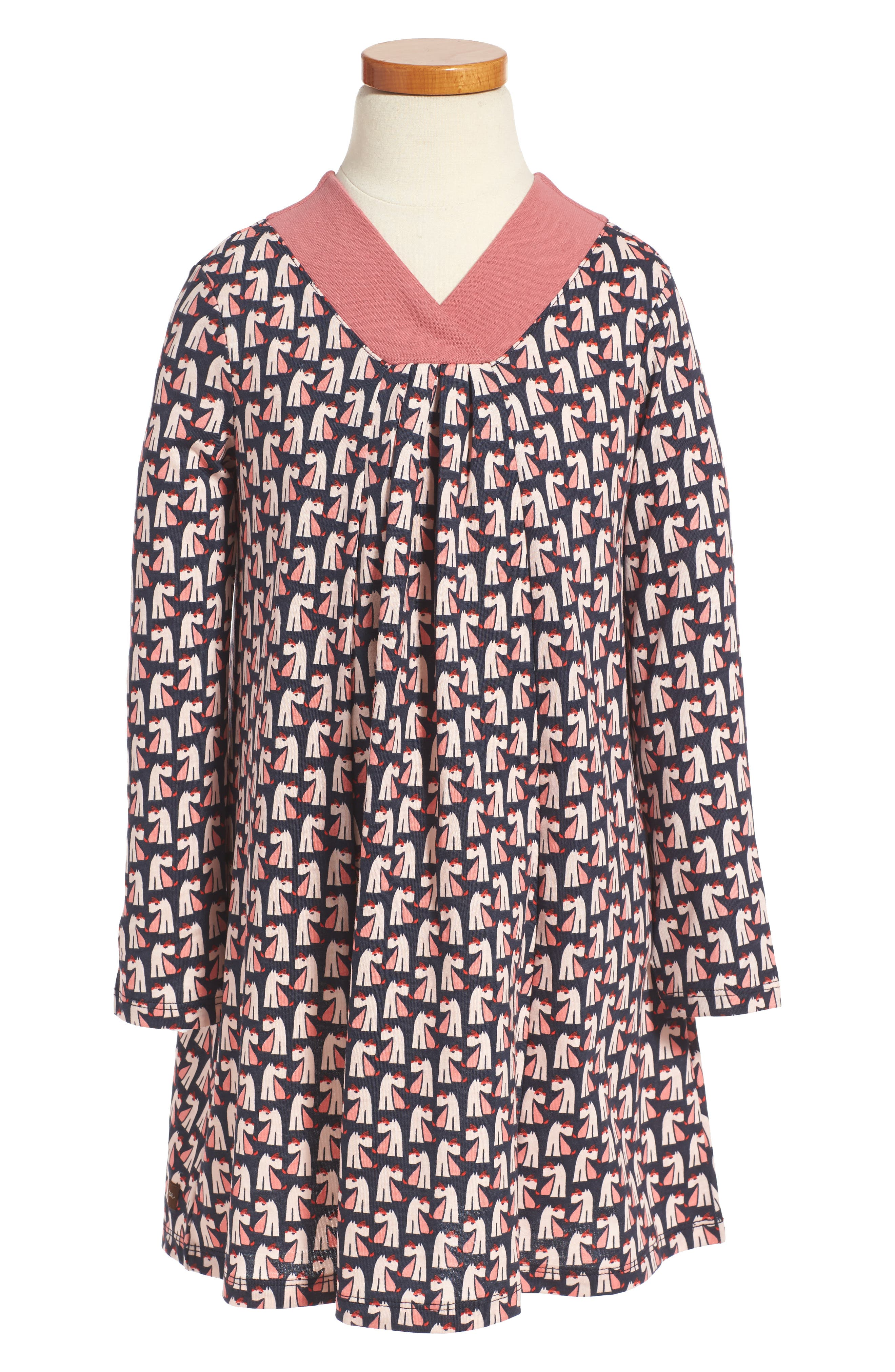 Alternate Image 1 Selected - Tea Collection Scottie Dog Pleated Trapeze Dress (Toddler Girls, Little Girls & Big Girls)