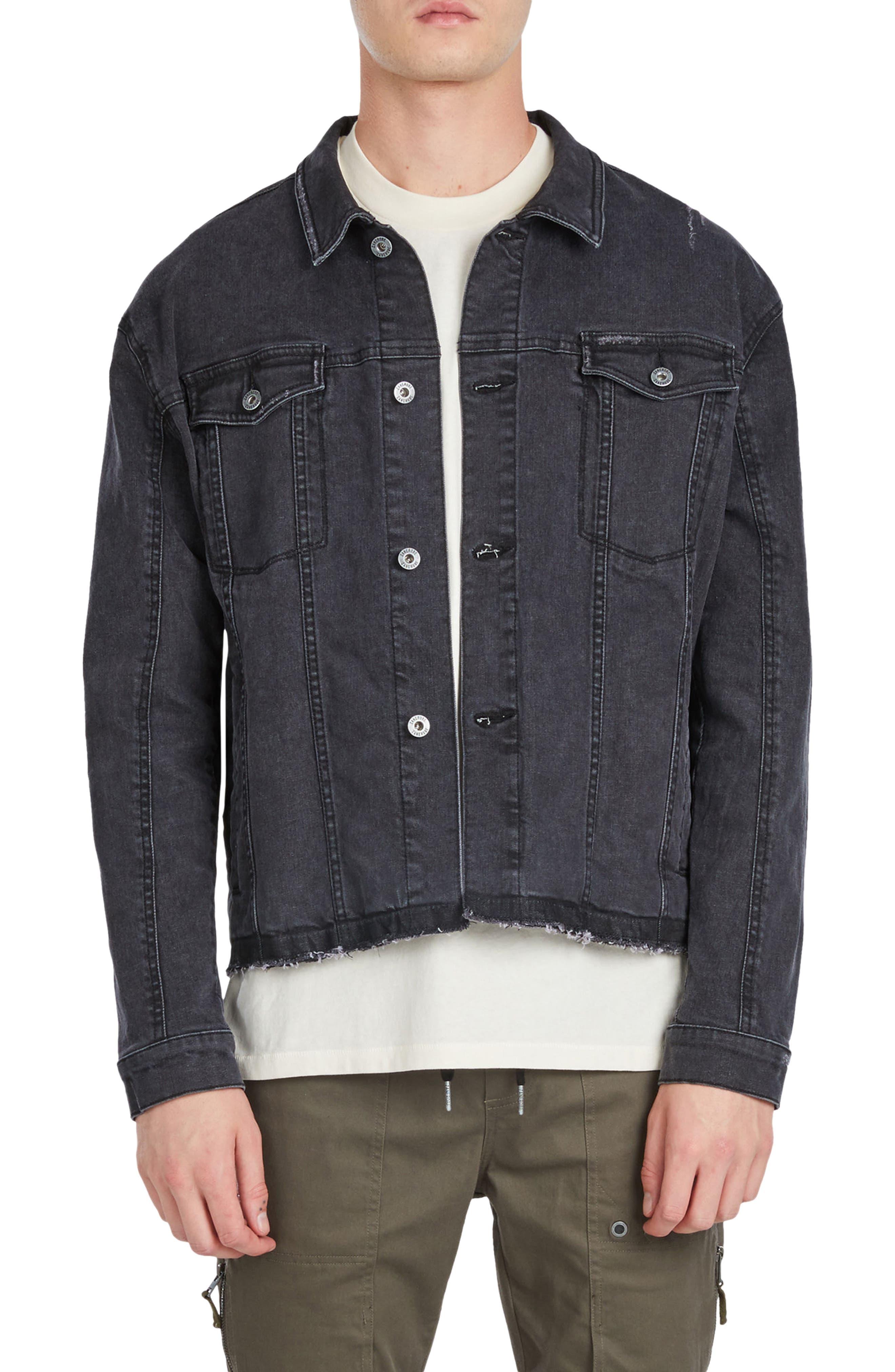 Snitch Denim Jacket,                         Main,                         color, Black