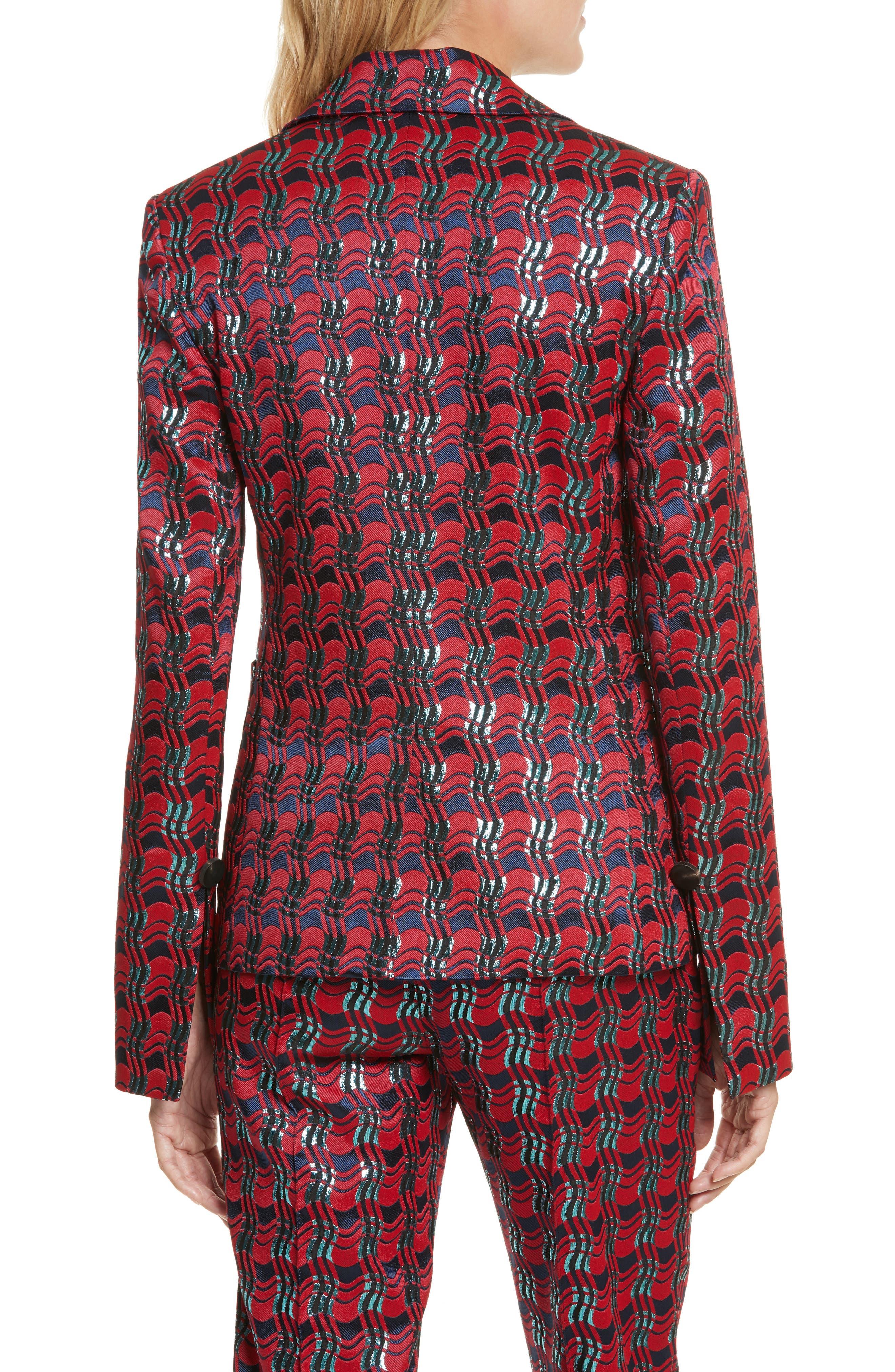 Alternate Image 2  - Diane von Furstenberg Tailored Jacquard Jacket