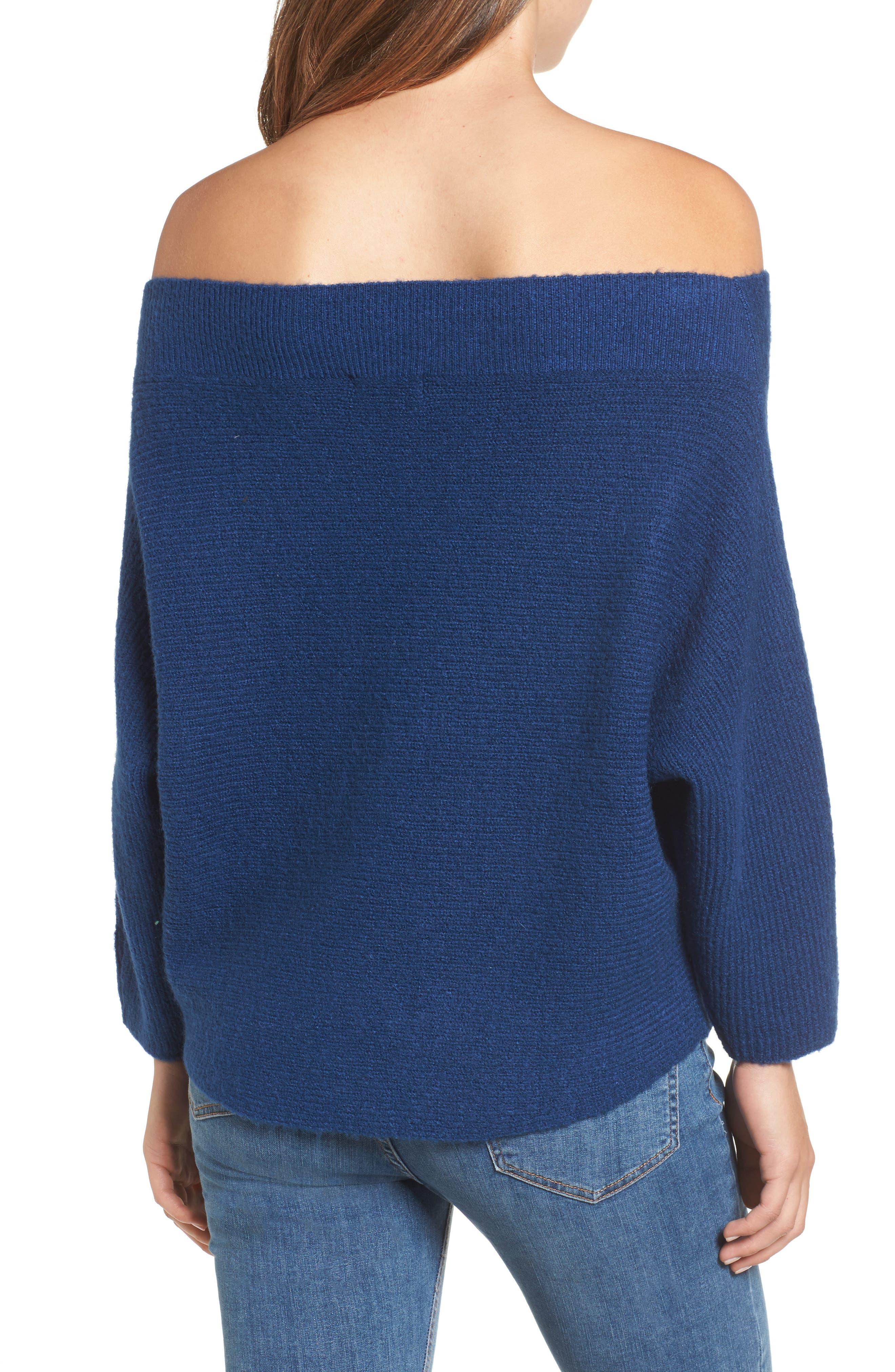 Dolman Sleeve Sweater,                             Alternate thumbnail 2, color,                             Blue Estate