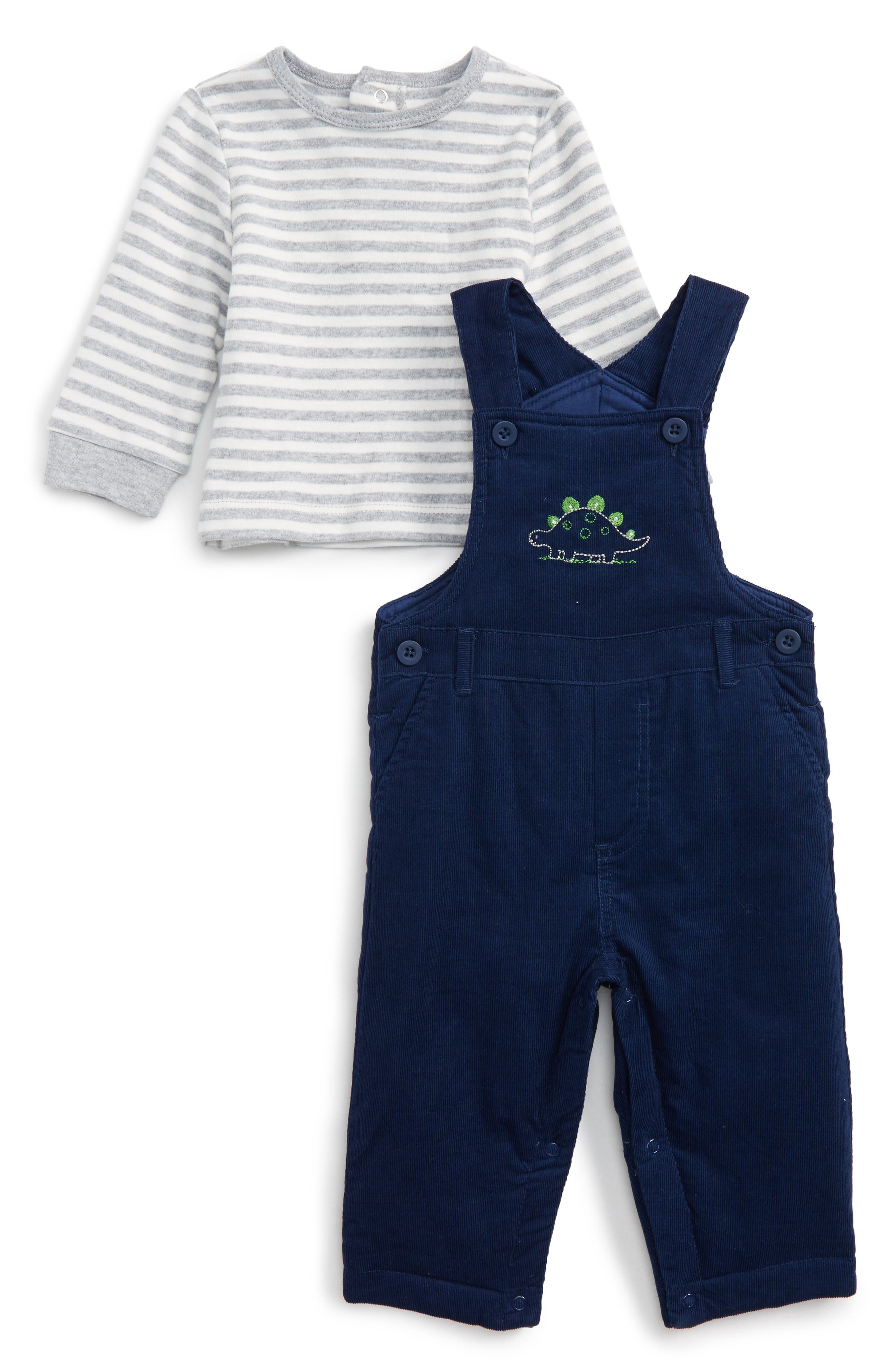 Little Me Dino Fun Overalls & T-Shirt Set (Baby Boys)
