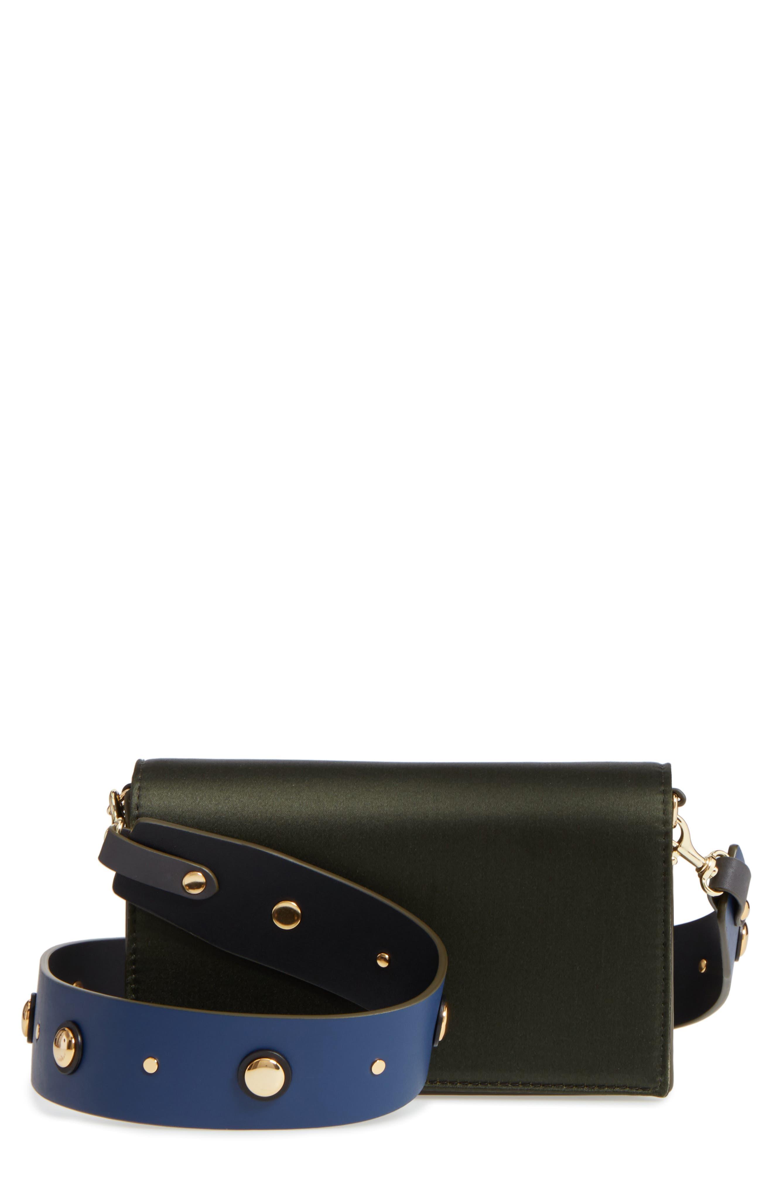 Main Image - Diane von Furstenberg Soirée Satin Convertible Crossbody Bag