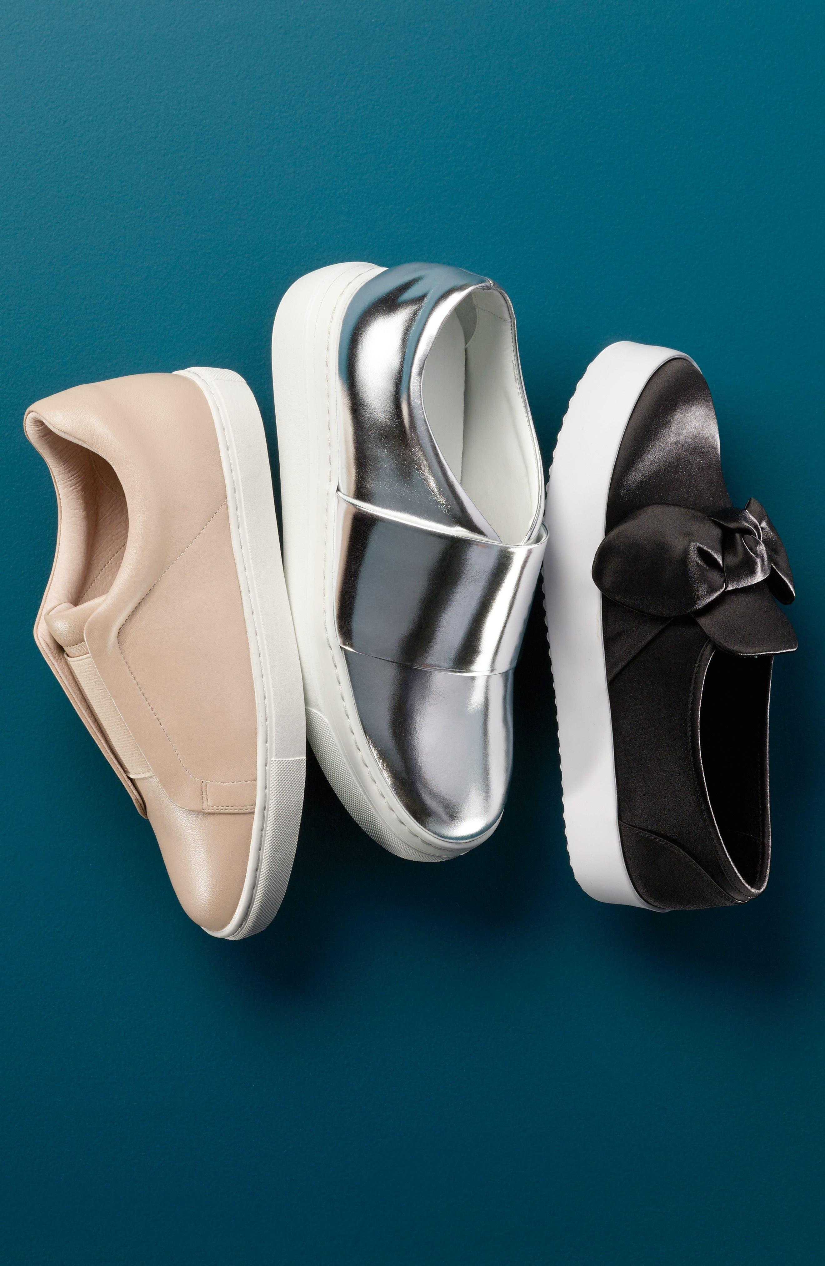 Stacey Bow Platform Sneaker,                             Alternate thumbnail 5, color,