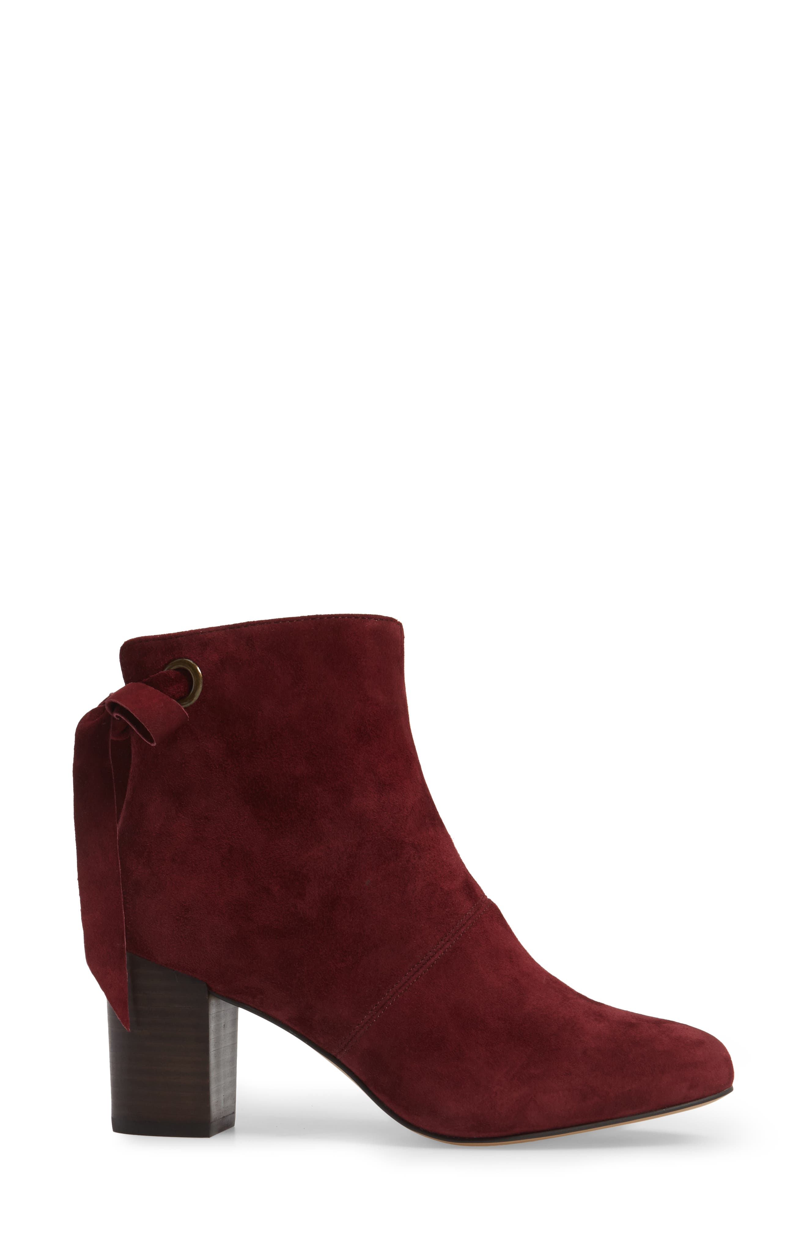 Roxbury Bootie,                             Alternate thumbnail 3, color,                             Rumba Red Suede