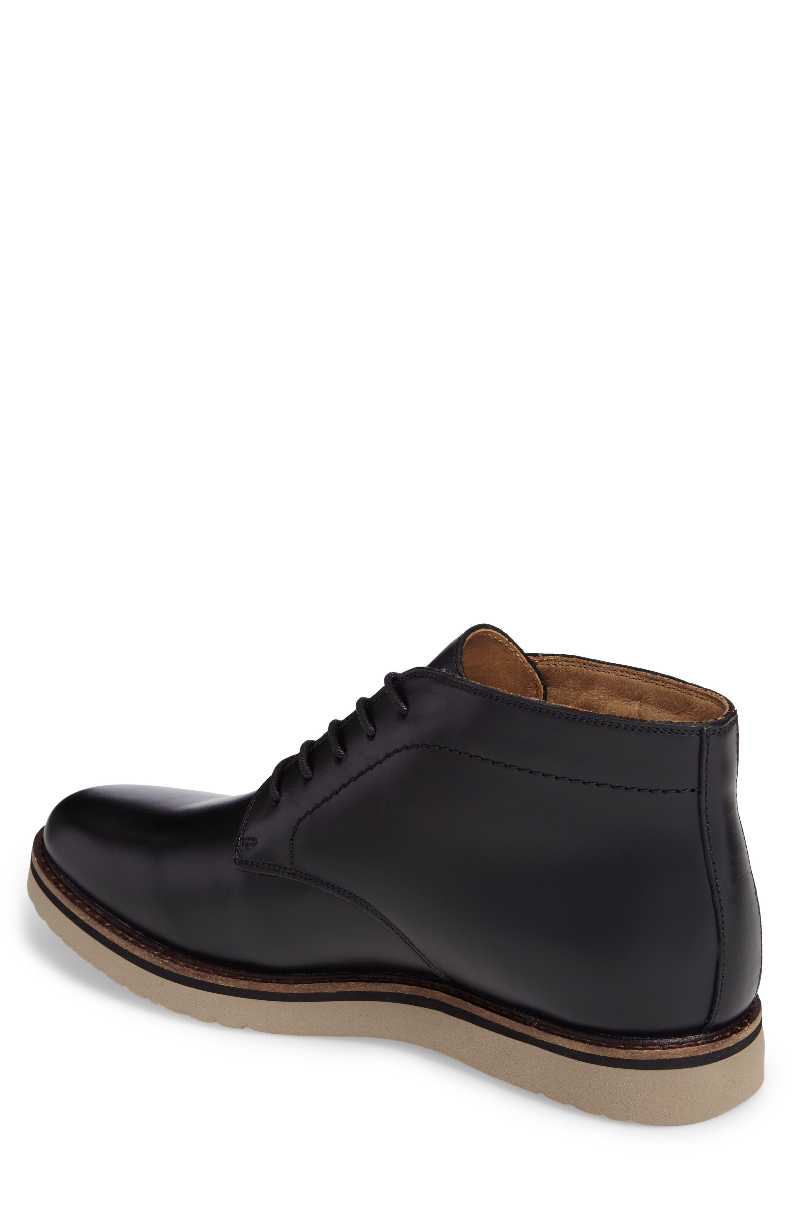 'Farley' Chukka Boot,                             Alternate thumbnail 2, color,                             Black/ Black Leather