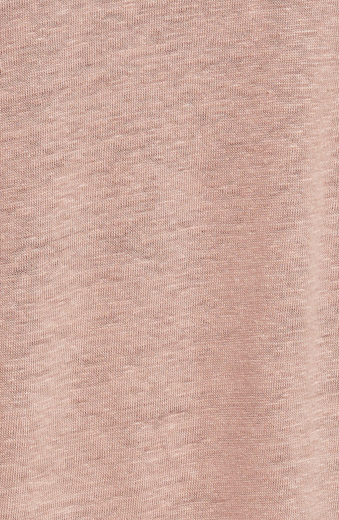 Bacau Cold Shoulder Linen Tee,                             Alternate thumbnail 5, color,                             Old Pink
