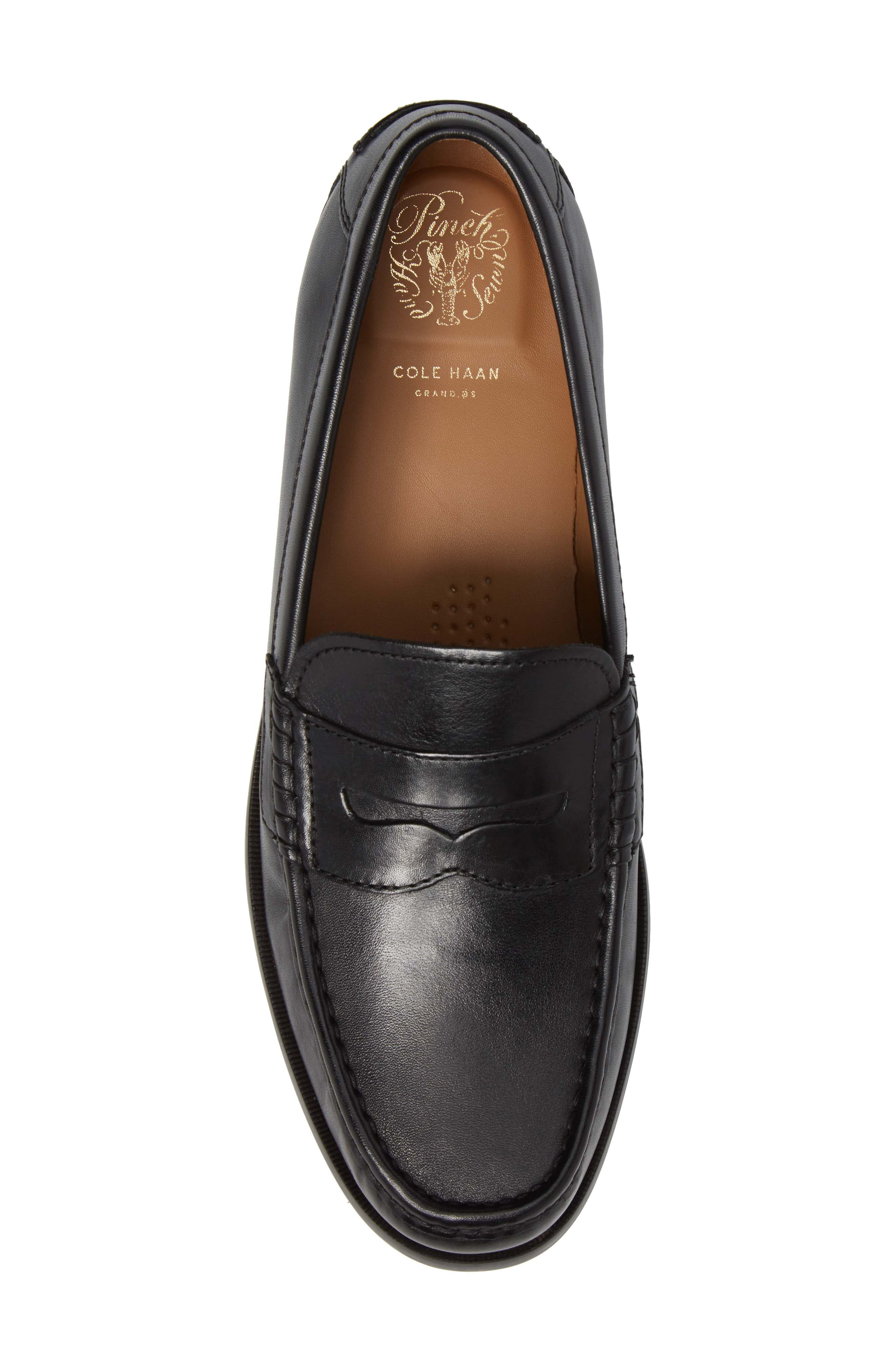 Pinch Friday Penny Loafer,                             Alternate thumbnail 5, color,                             Black Leather