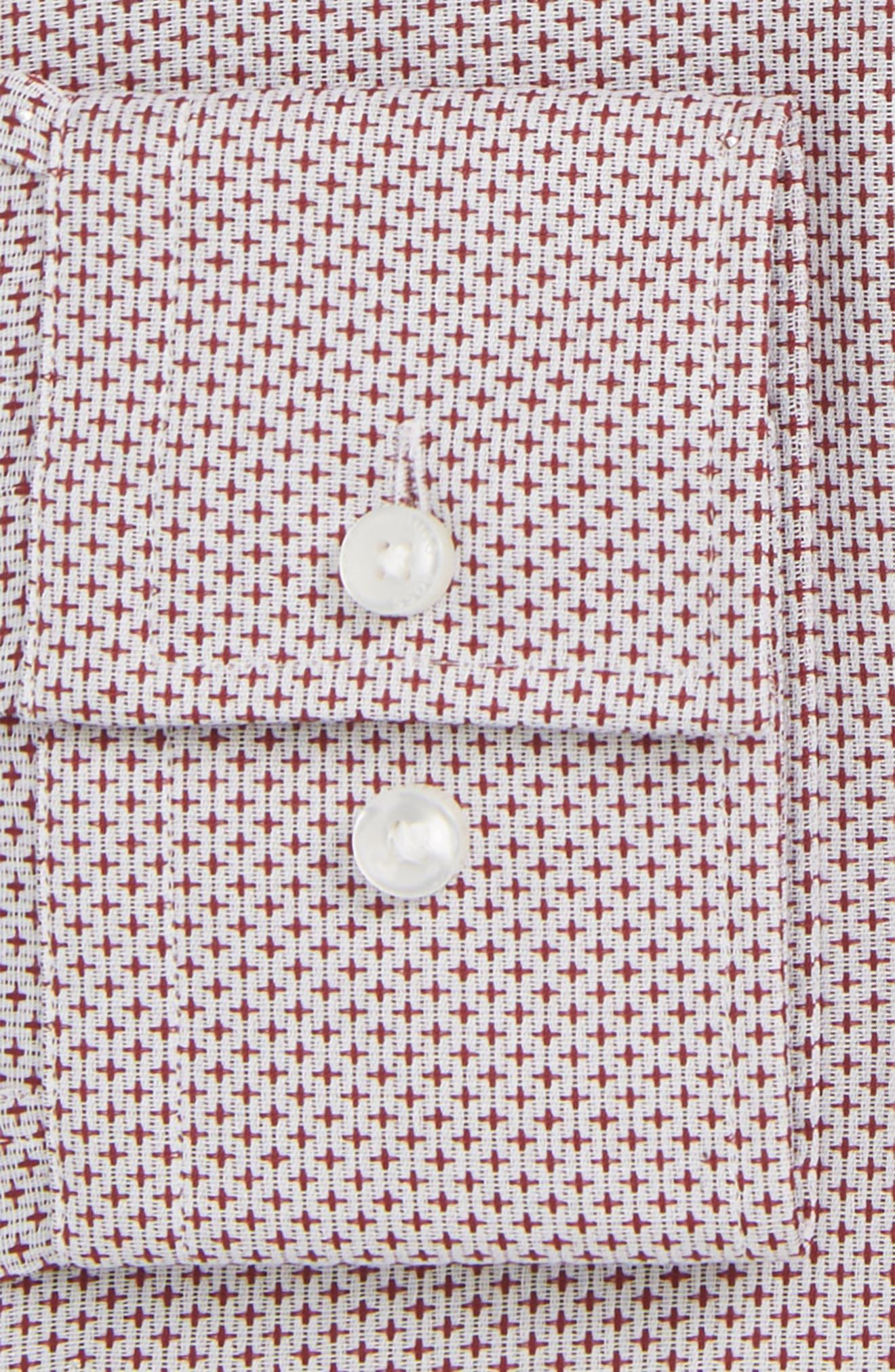 Jason Slim Fit Dress Shirt,                             Alternate thumbnail 2, color,                             Burgundy