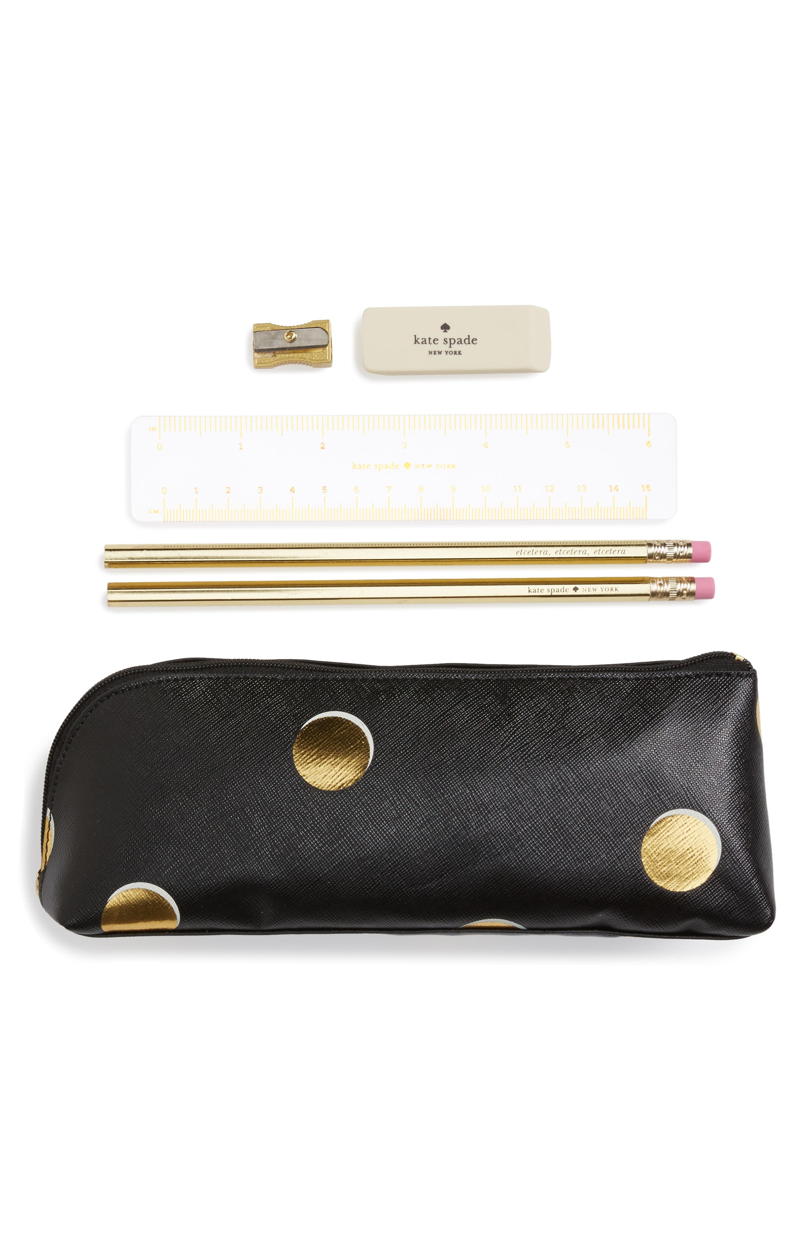 Alternate Image 1 Selected - kate spade new york scatter dot pencil case