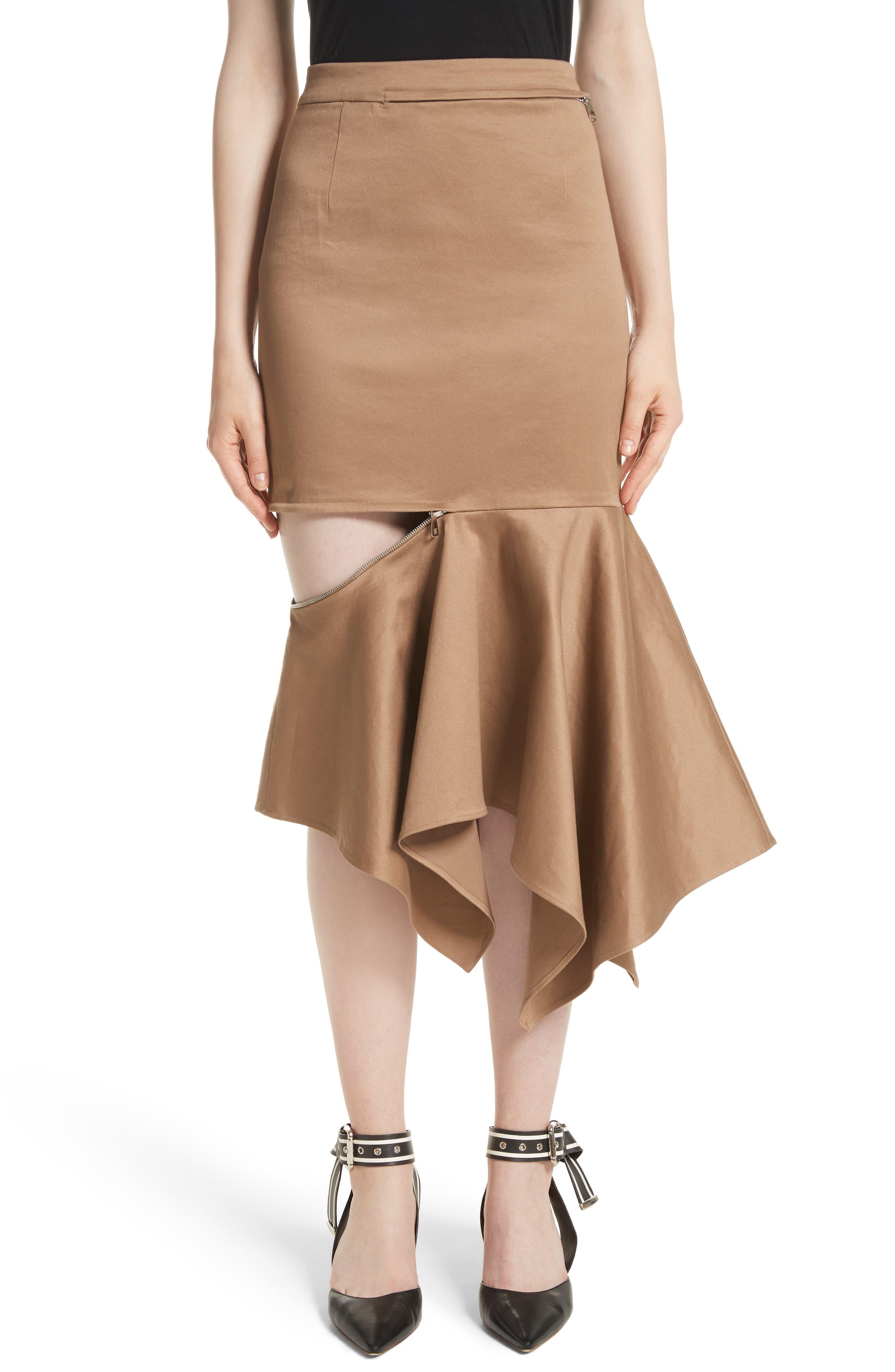 MONSE Cutout Trumpet Skirt
