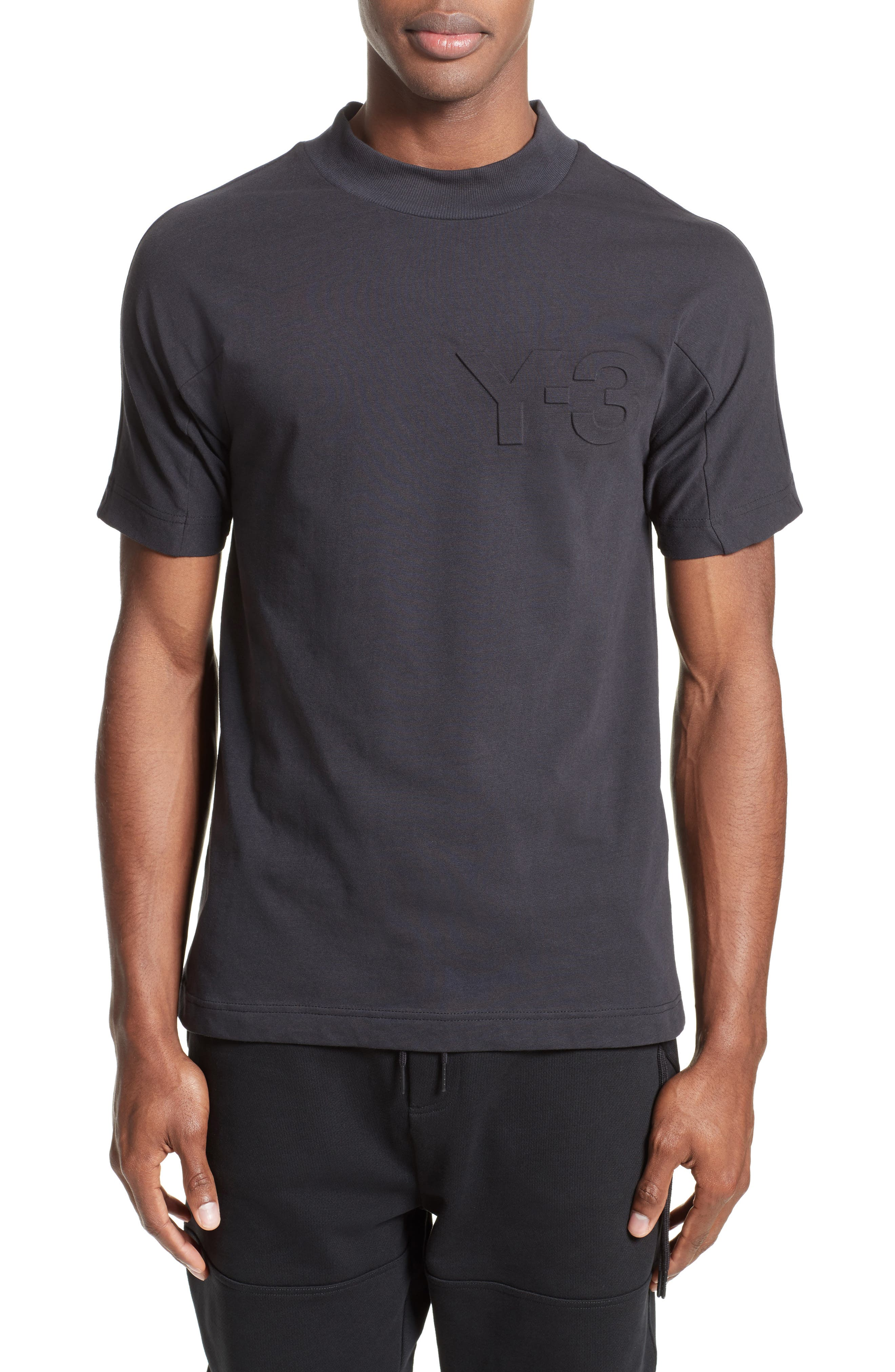 Embossed Logo T-Shirt,                             Main thumbnail 1, color,                             Black