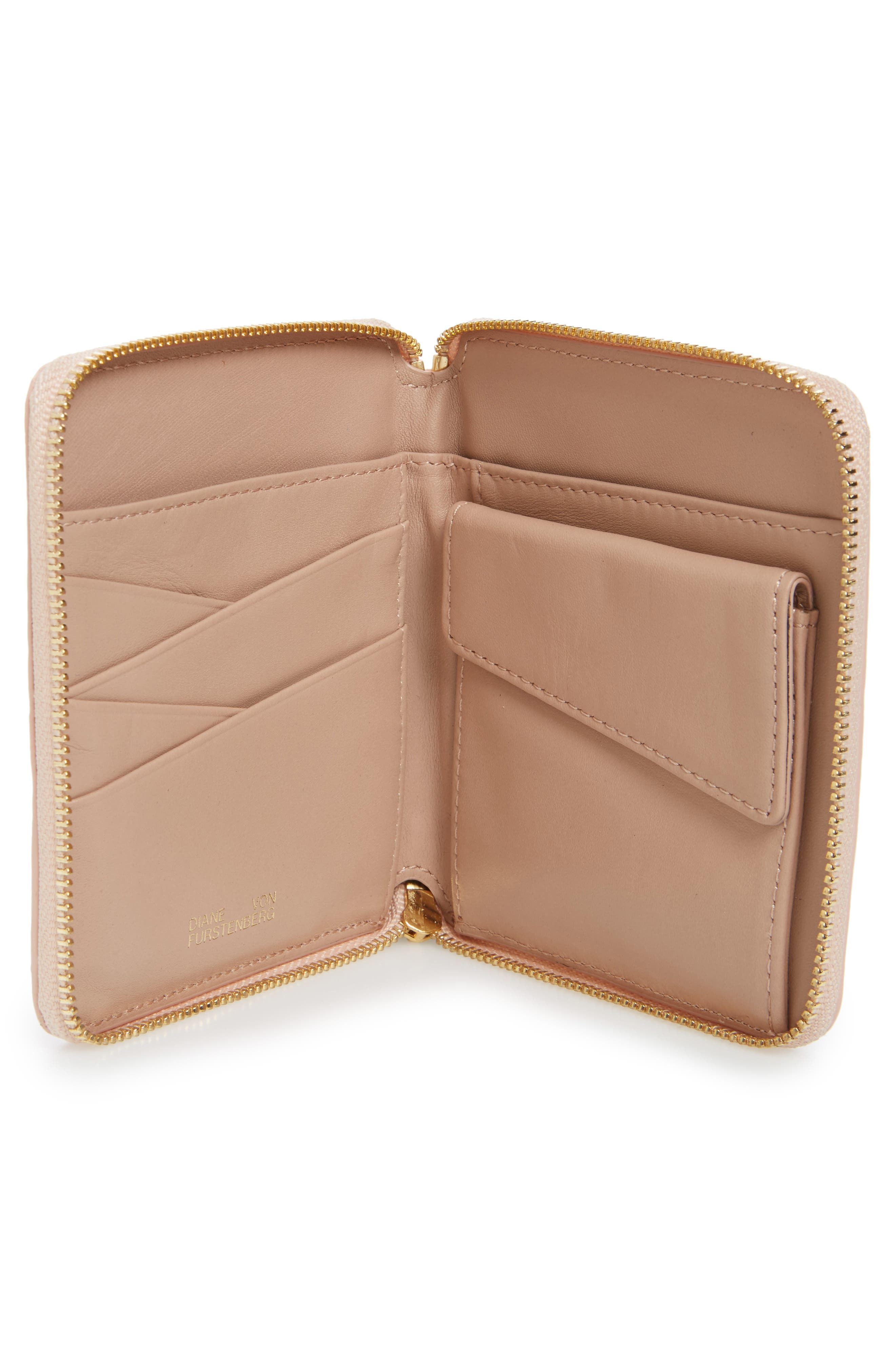 Alternate Image 2  - Diane von Furstenberg Small Za Genuine Snakeskin Wallet