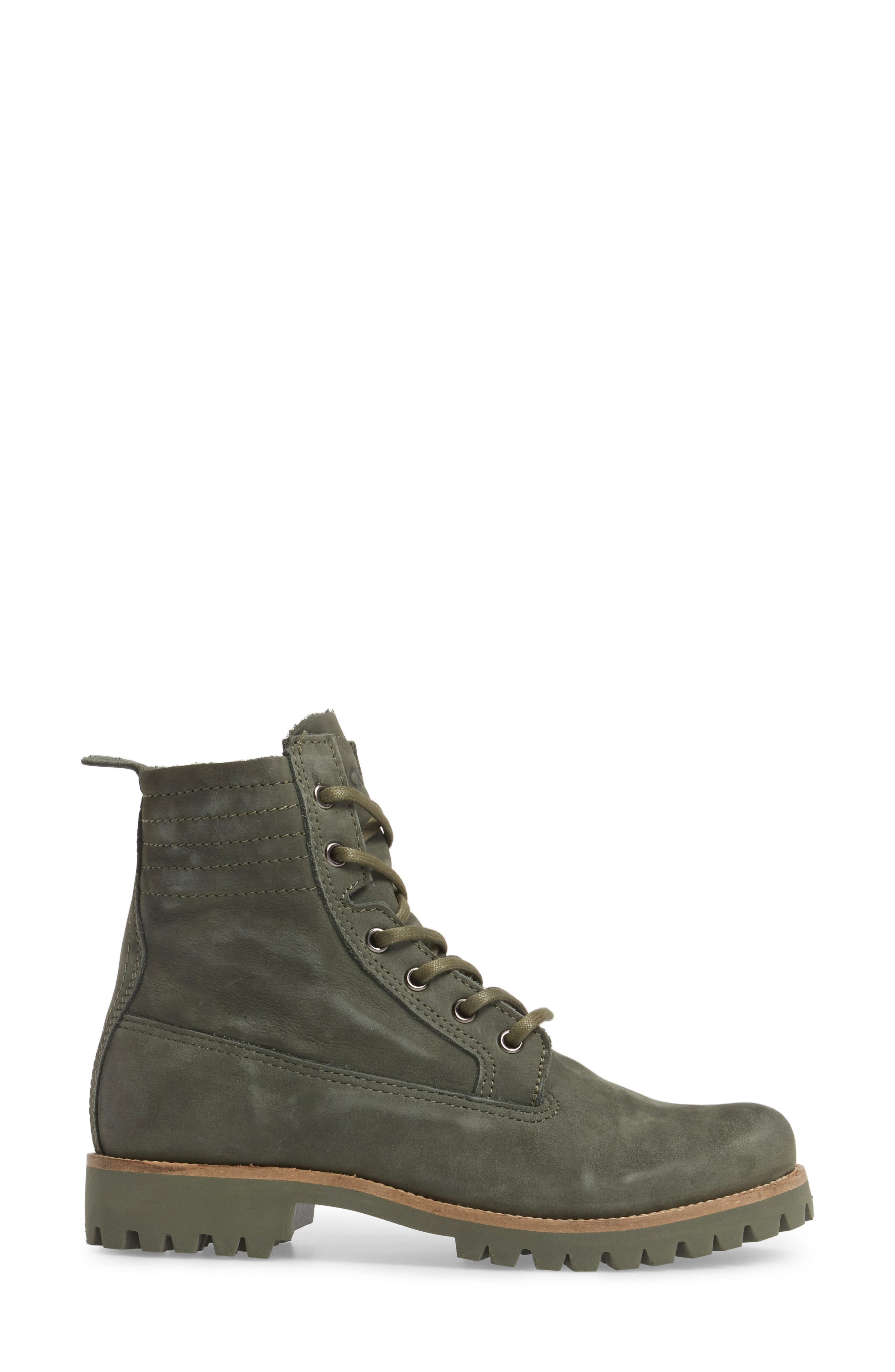 OL23 Lace-Up Boot,                             Alternate thumbnail 3, color,                             Dark Green Nubuck