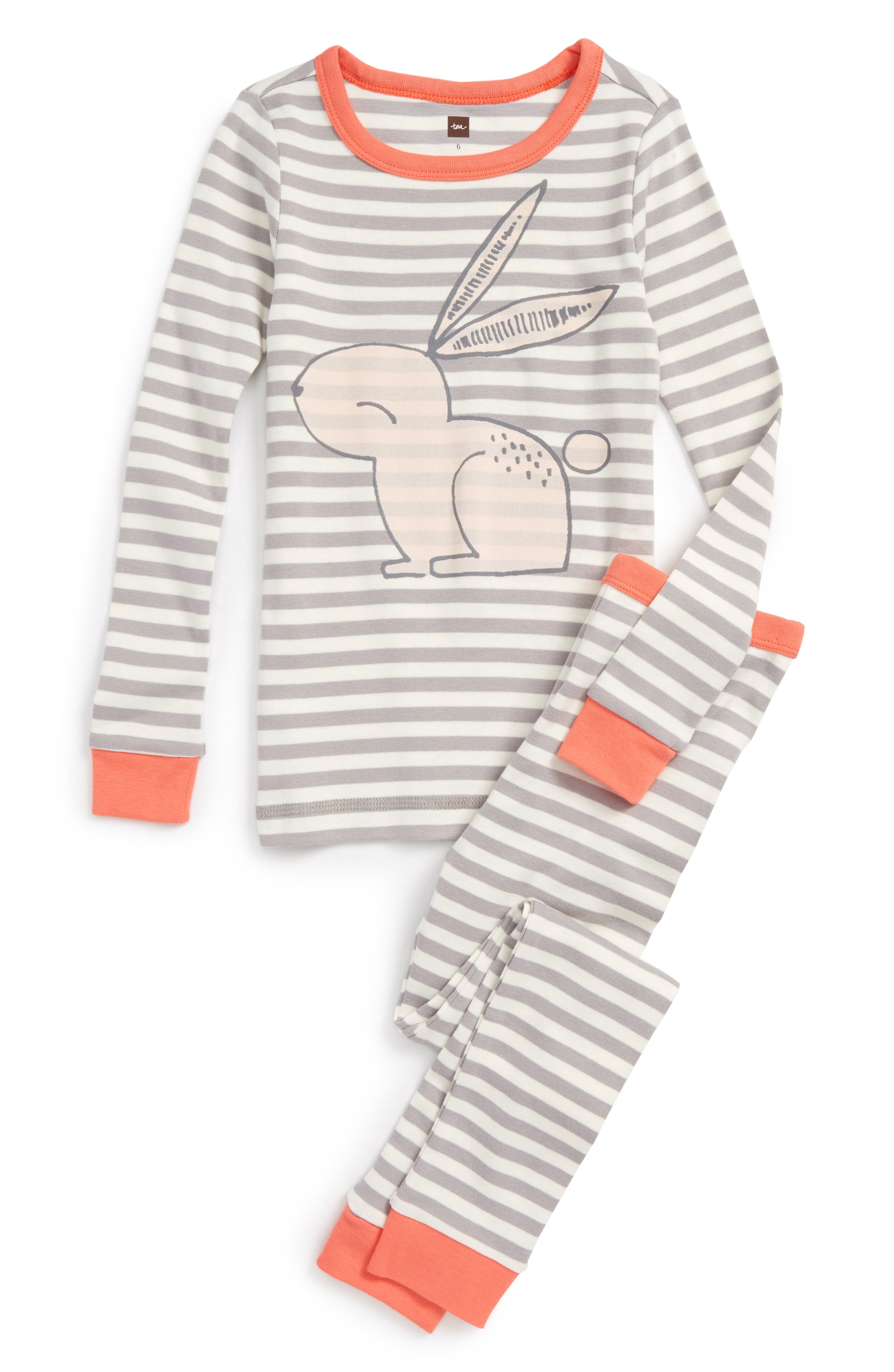 Main Image - Tea Collection Rabaid Fitted Two-Piece Pajamas (Toddler Girls, Little Girls & Big Girls)