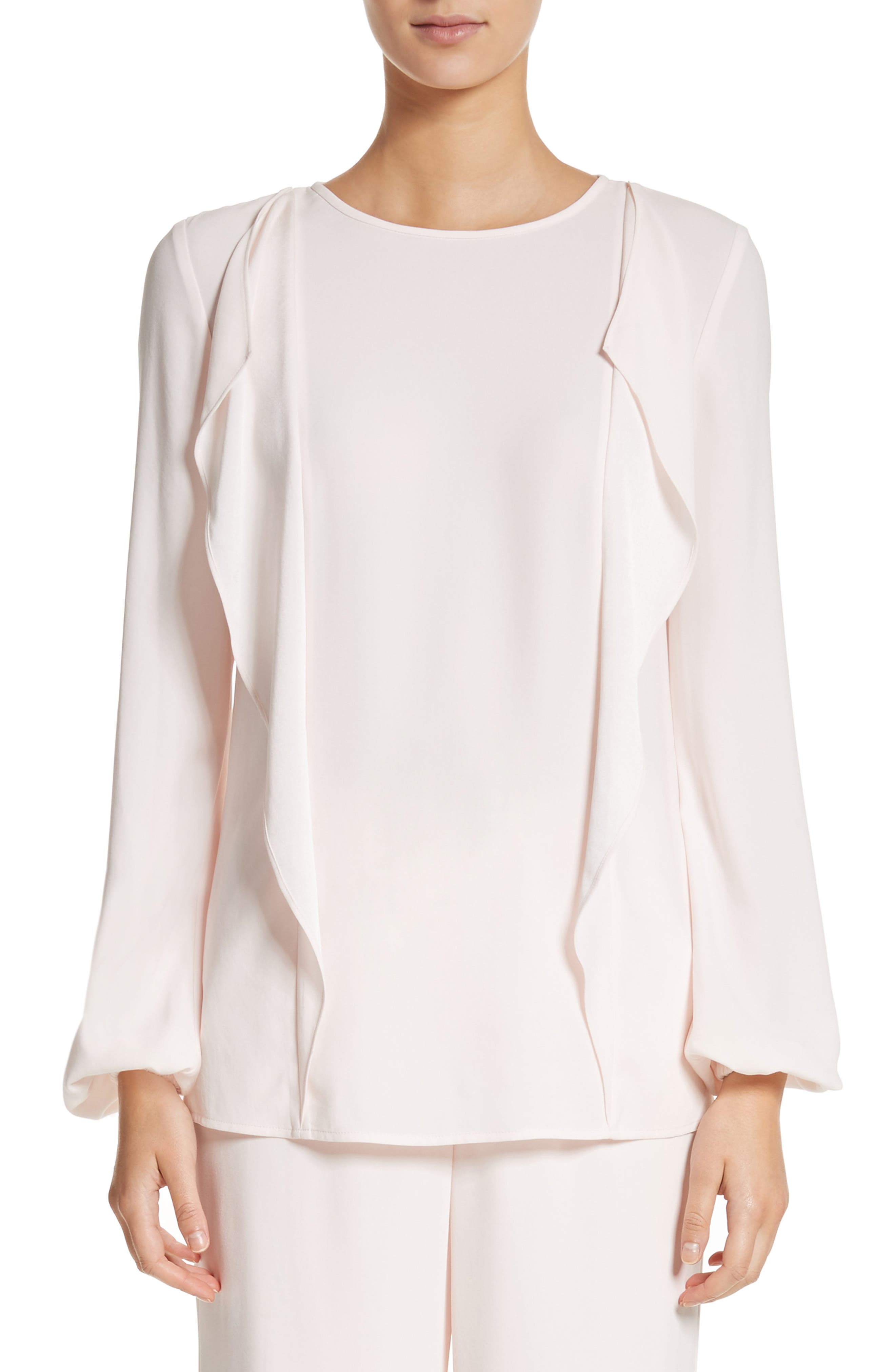 St. John Collection Satin Back Crepe Blouse