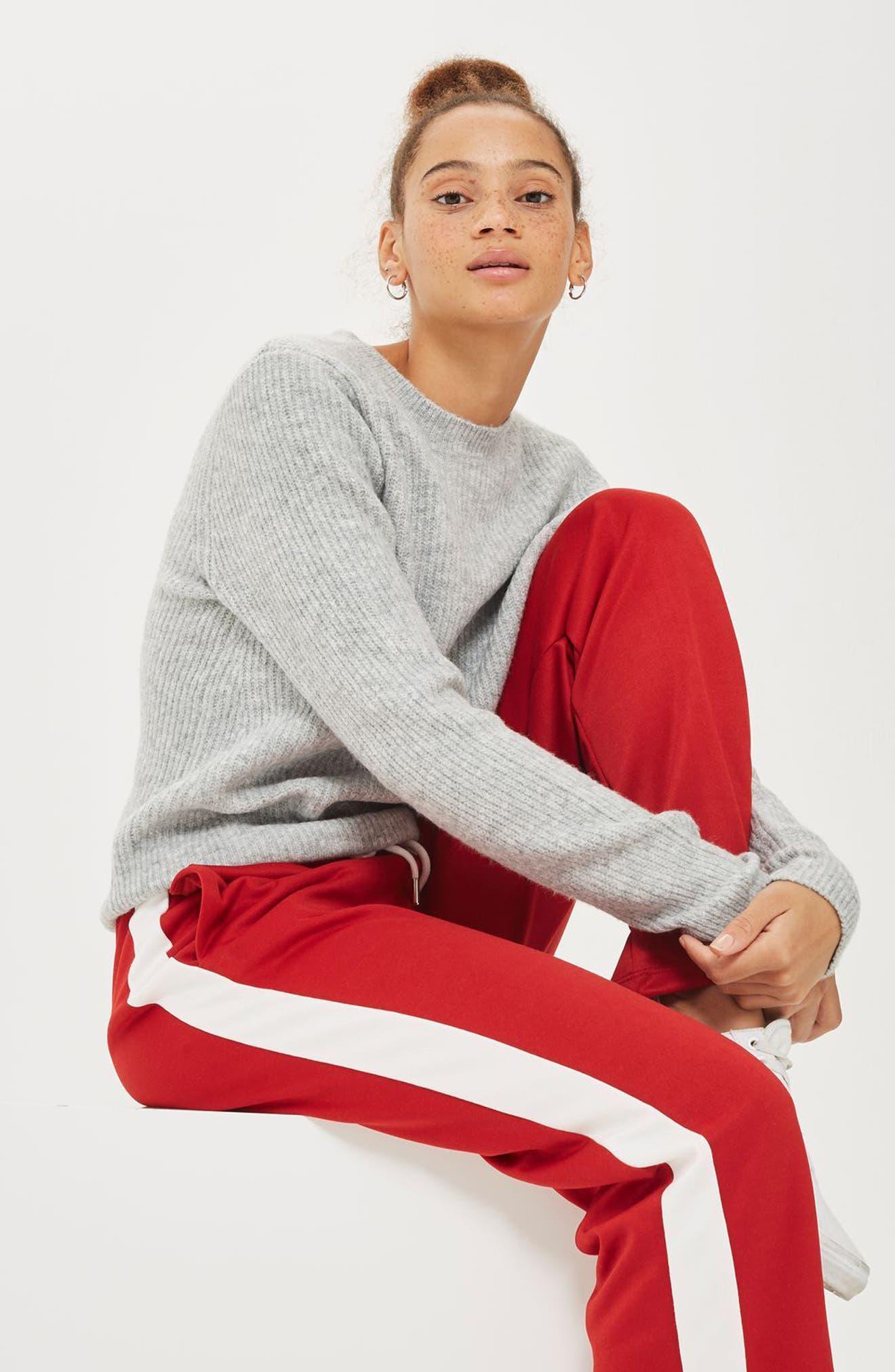 Alternate Image 2  - Topshop Ribbed Crewneck Sweater