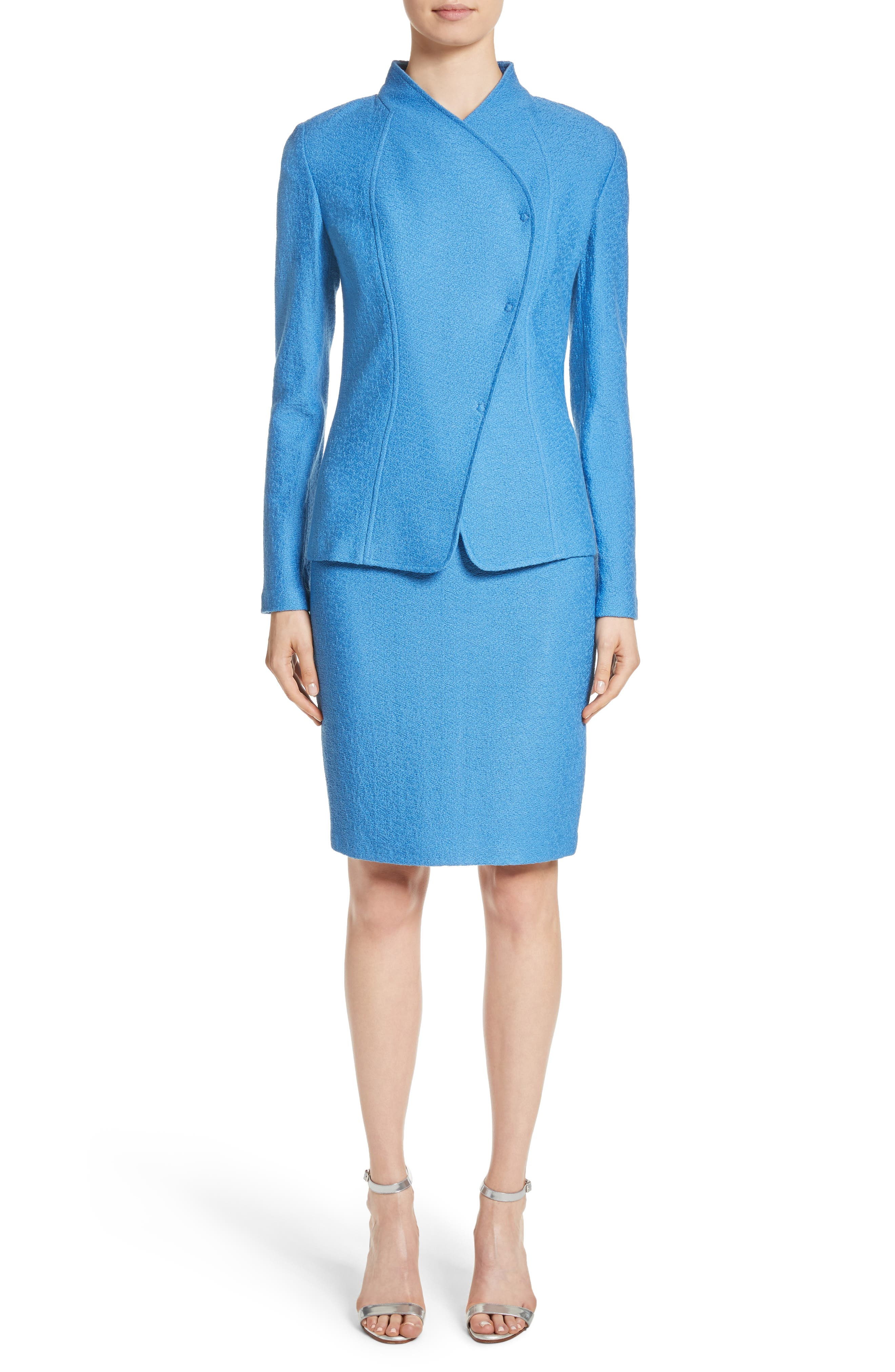 Alternate Image 7  - St. John Collection Hannah Knit Stand Collar Jacket