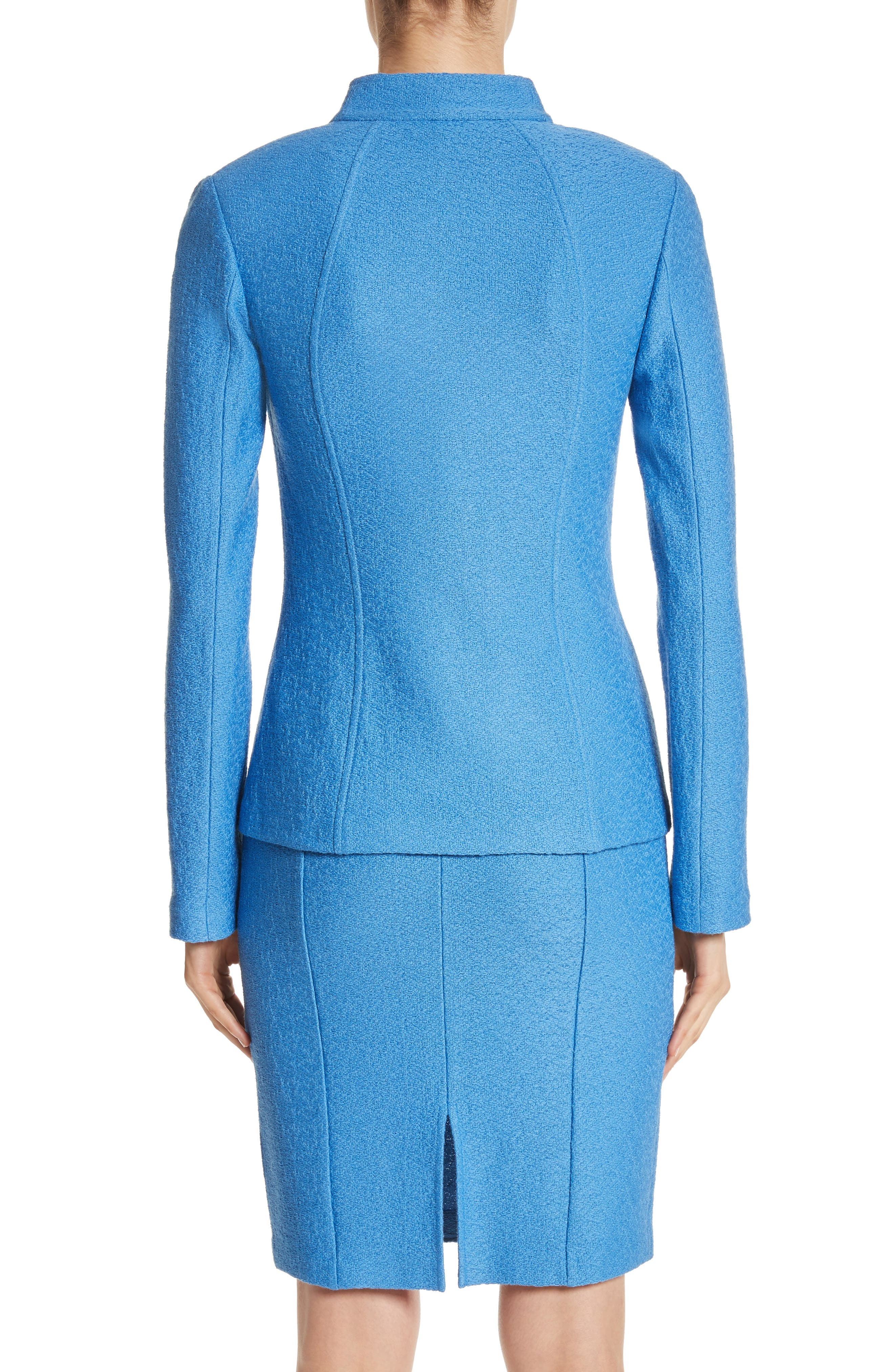 Alternate Image 2  - St. John Collection Hannah Knit Stand Collar Jacket