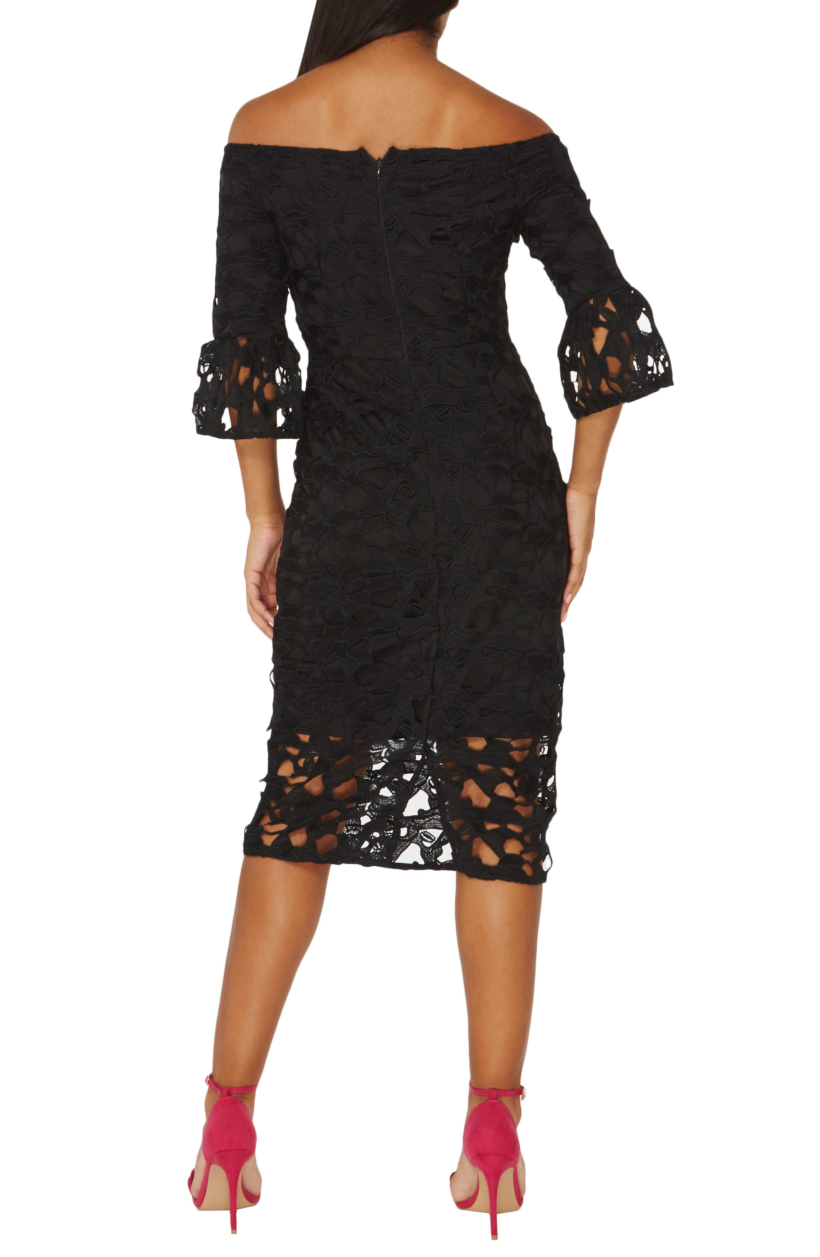 Alternate Image 2  - Dorothy Perkins Lace Off the Shoulder Dress