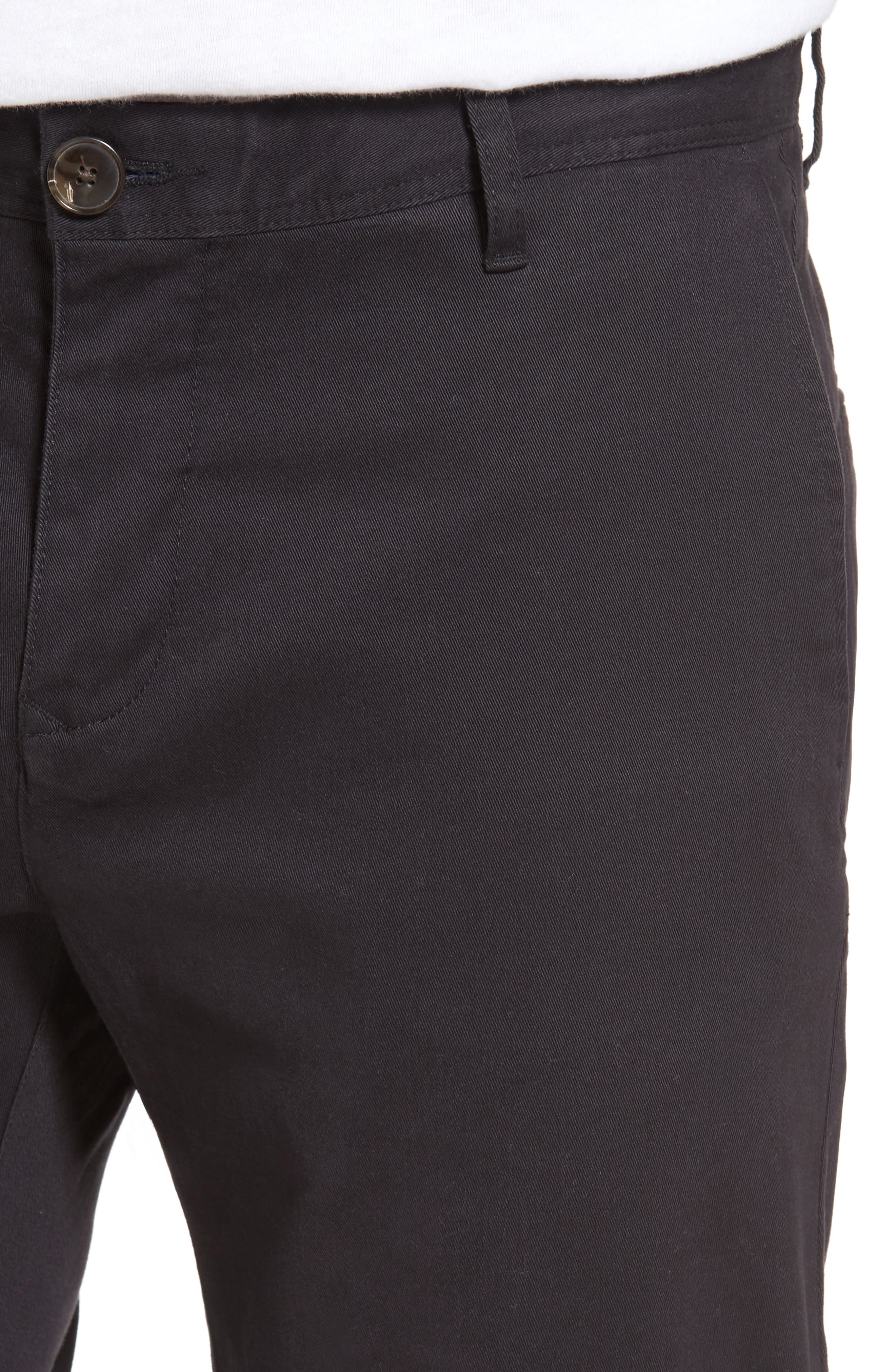 Stanely Brook Custom Fit Chinos,                             Alternate thumbnail 4, color,                             Twilight