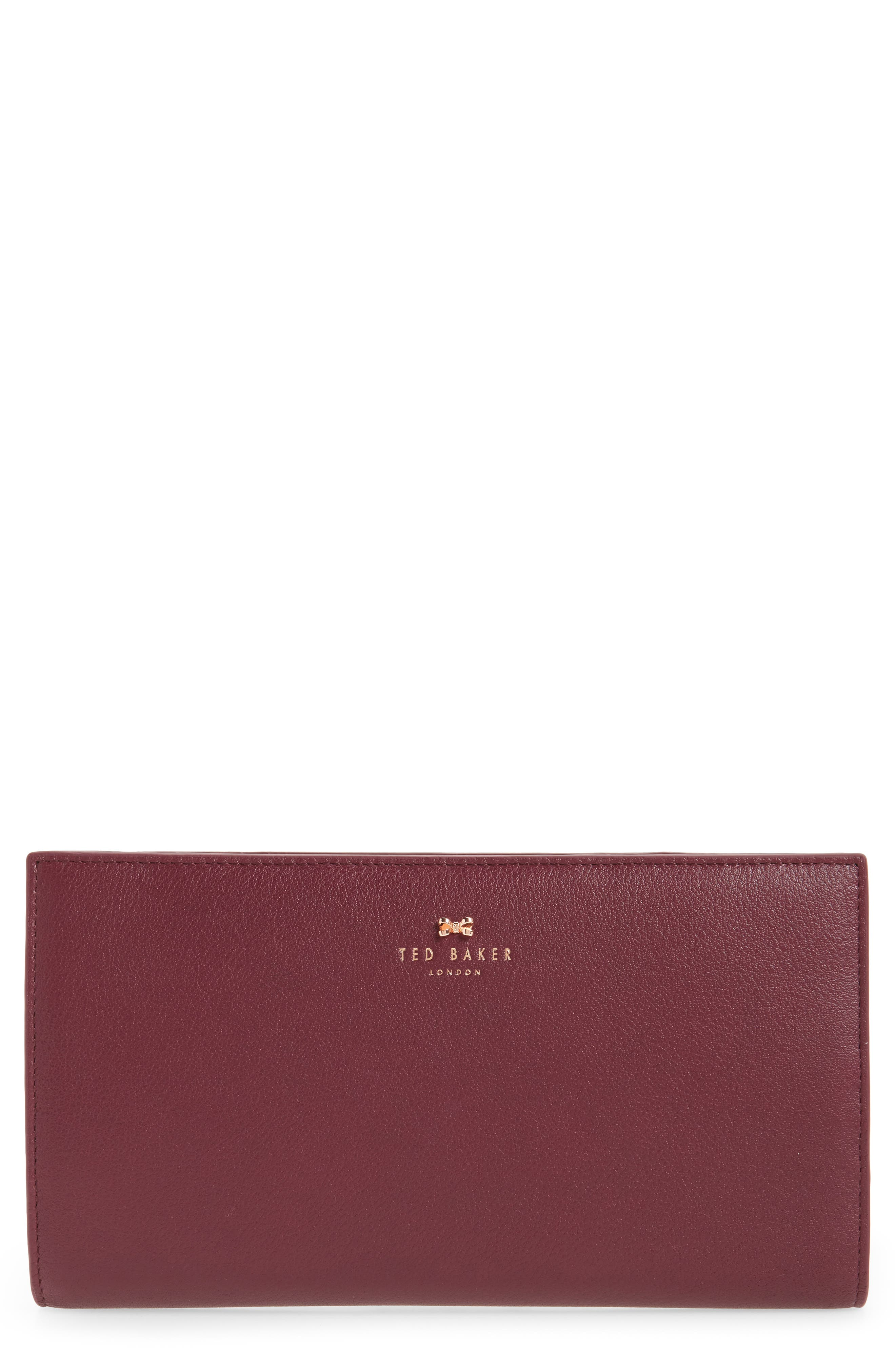 Dolle Leather Travel Wallet,                         Main,                         color, Oxblood