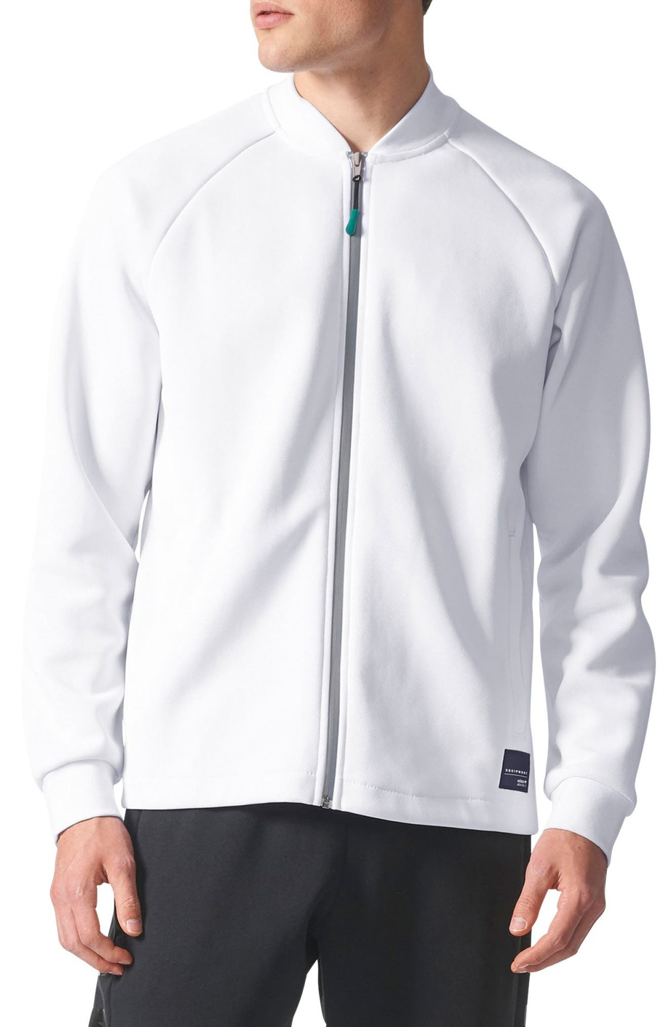 Equipment Hawthorne Track Jacket,                         Main,                         color, White
